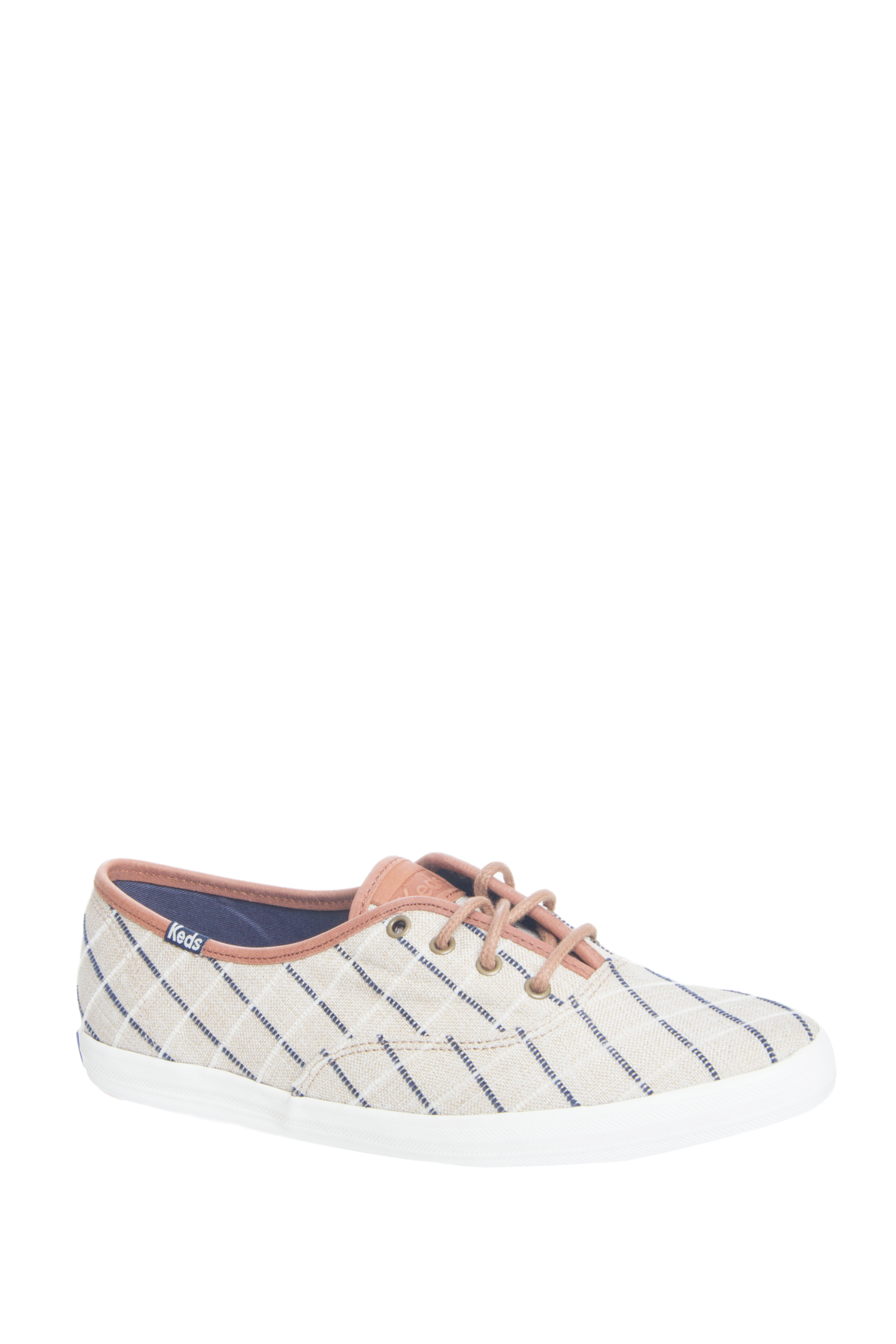 Keds Champion Windowpane Plaid Low Top Sneakers - Tan