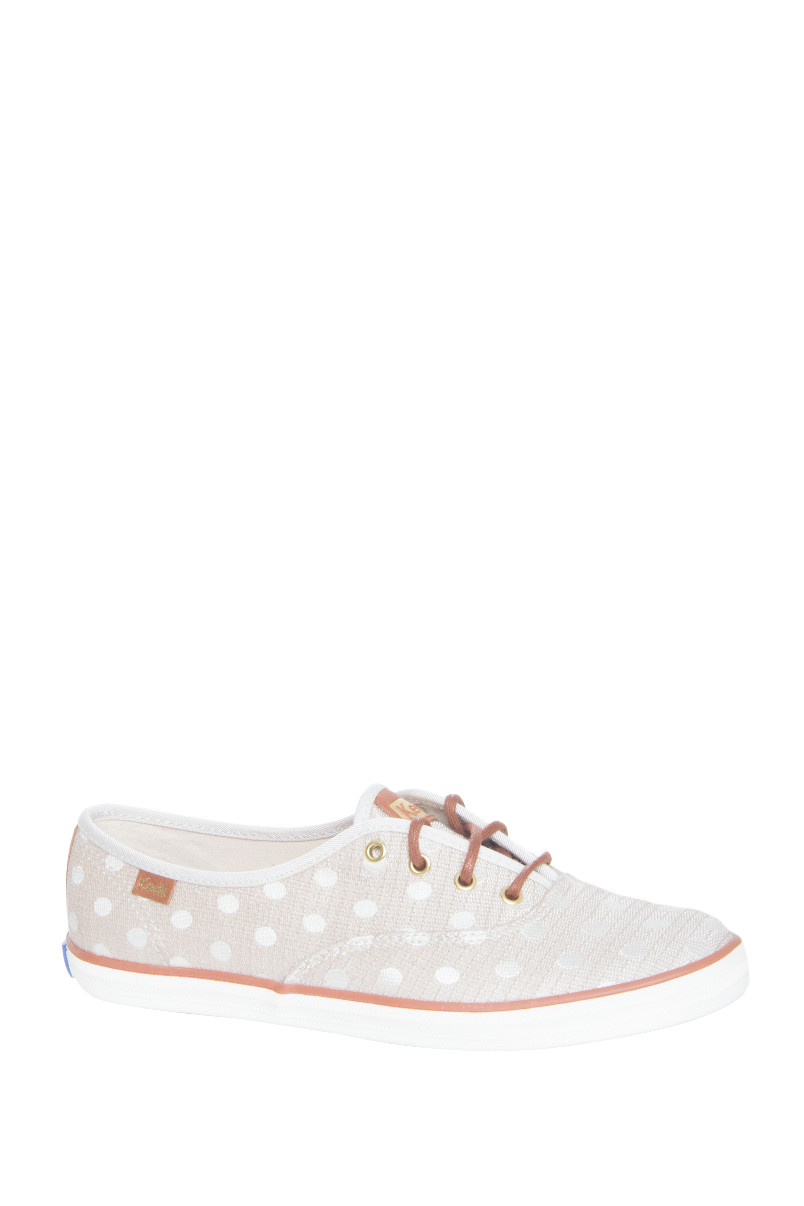 Keds Champion Jacquard Dot Low Top Sneakers - Natural Cream