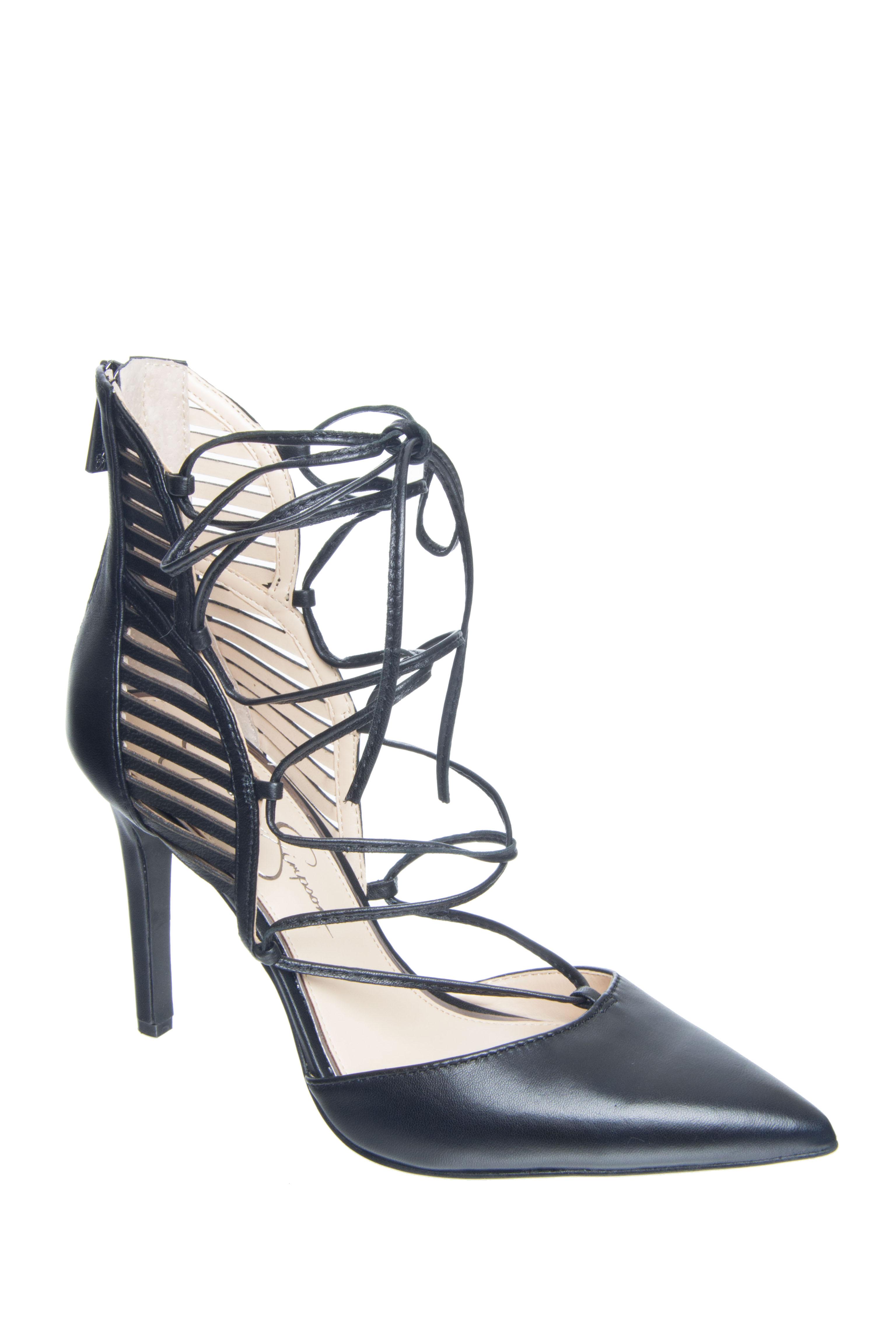 Jessica Simpson Cynessa Lace Up Heels - Black