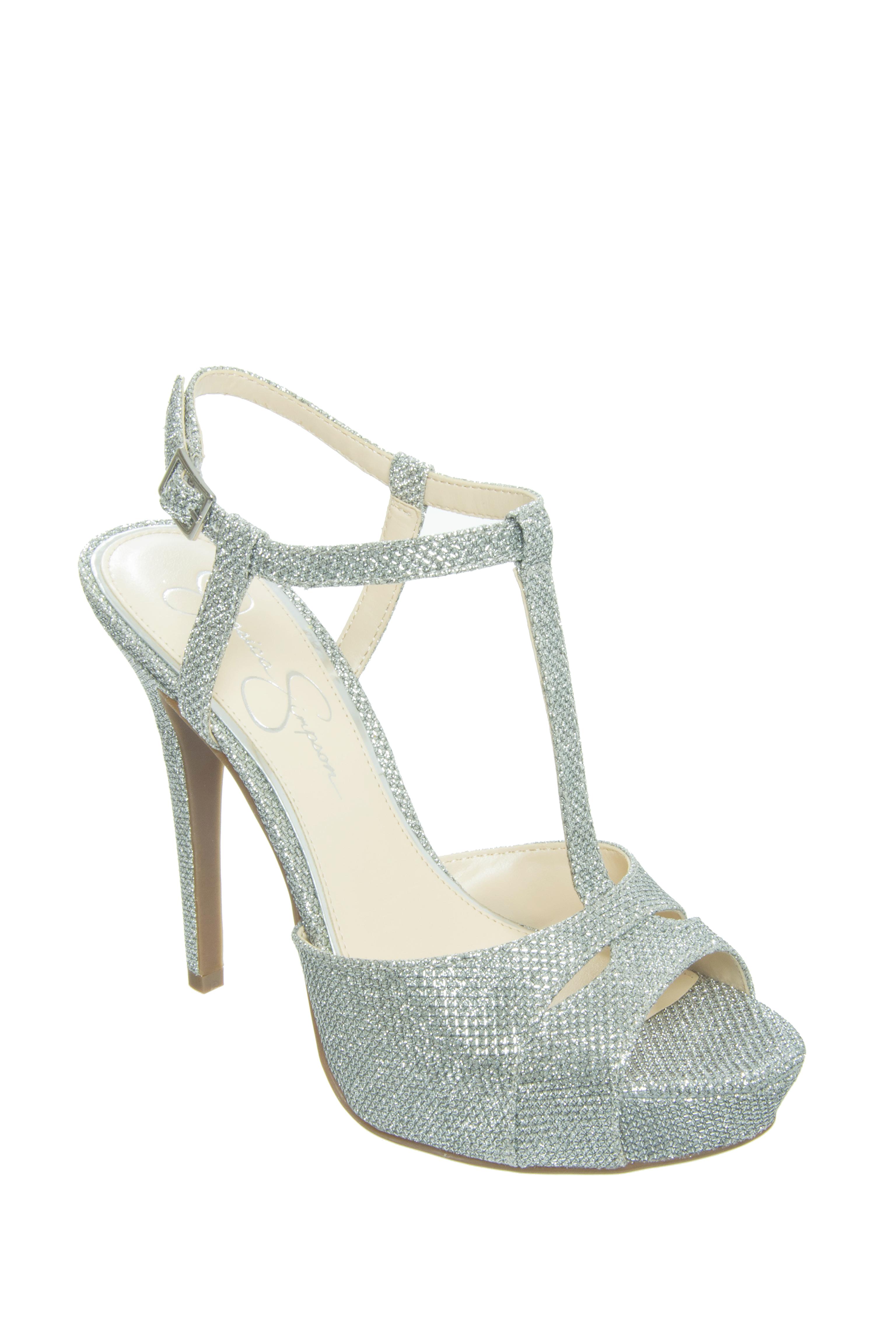 Jessica Simpson Barretta High Heel Sandals - Silver