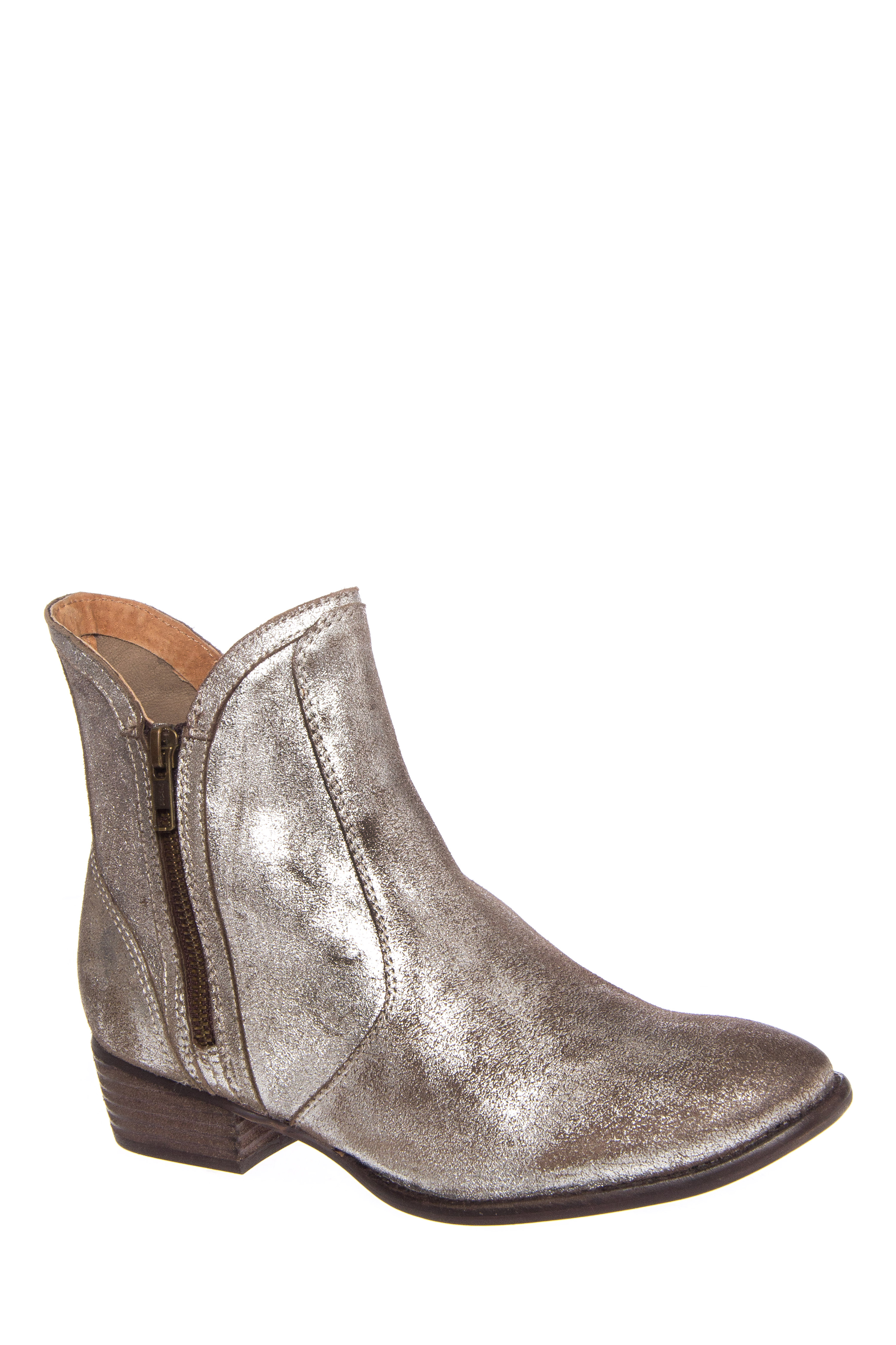 Seychelles Lucky Penny Low Heel Boots - Pewter