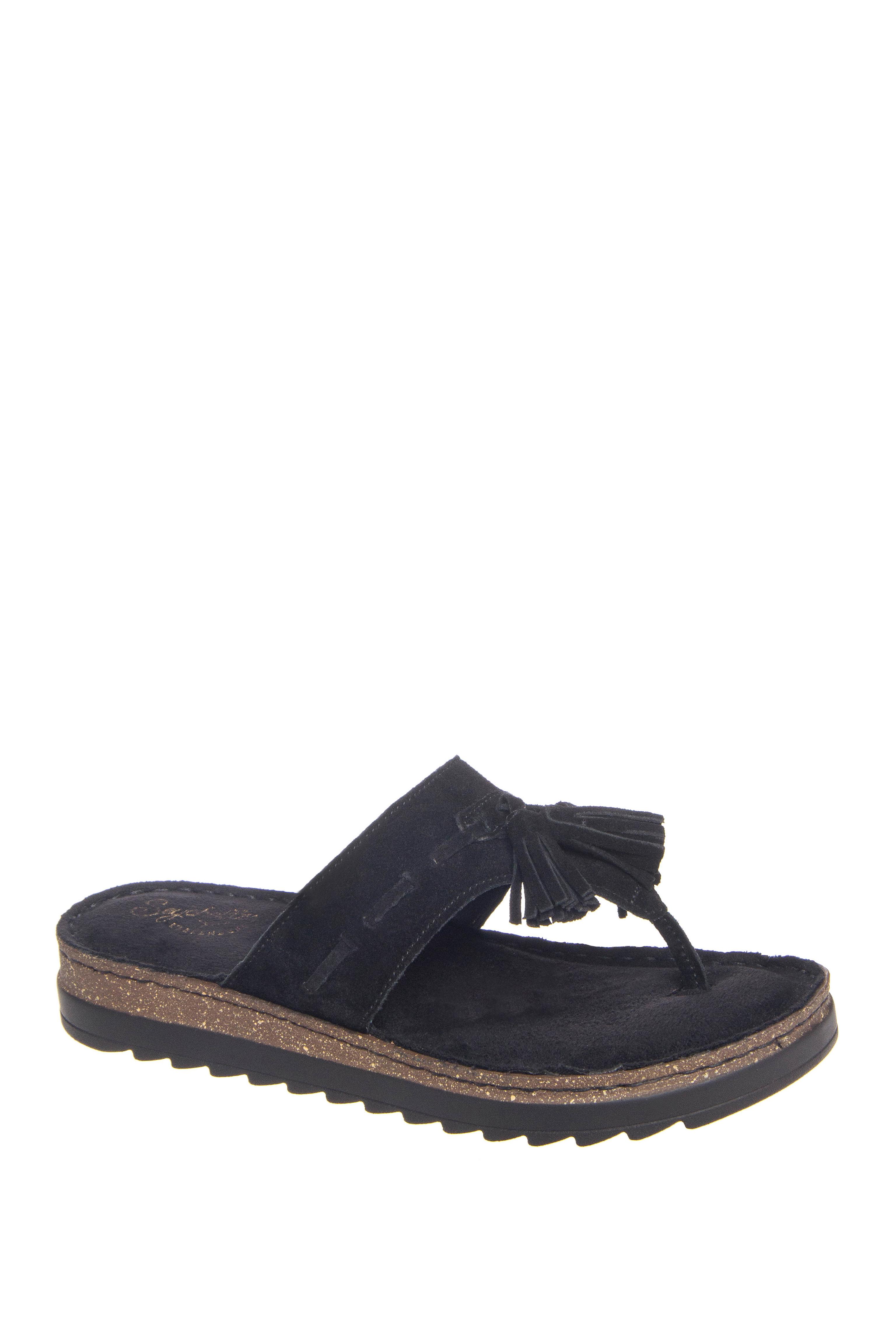 Seychelles Hazel Peep Toe Ankle Strap Low Heels - Black Suede