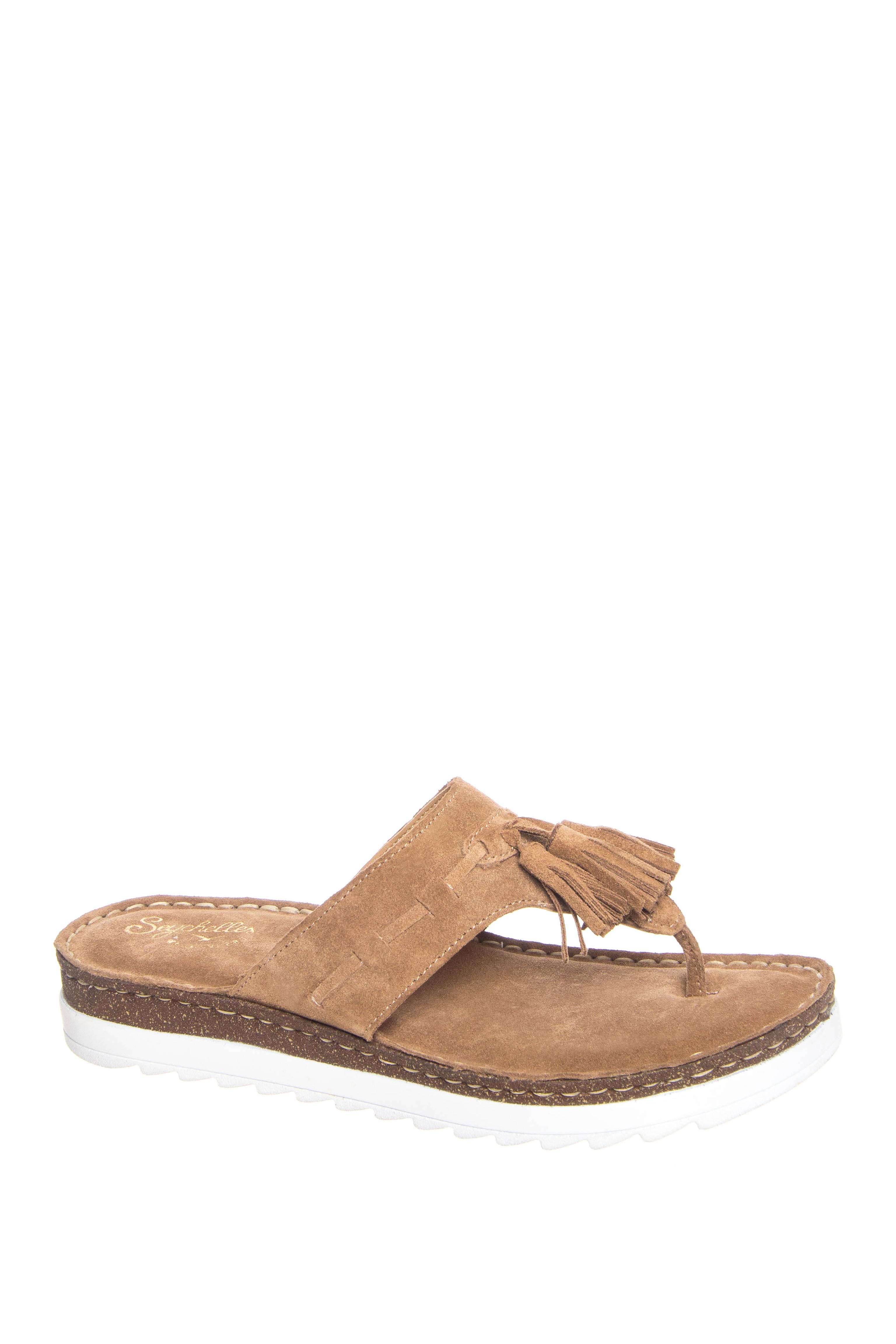 Seychelles Hazel Peep Toe Ankle Strap Low Heels - Sand Suede
