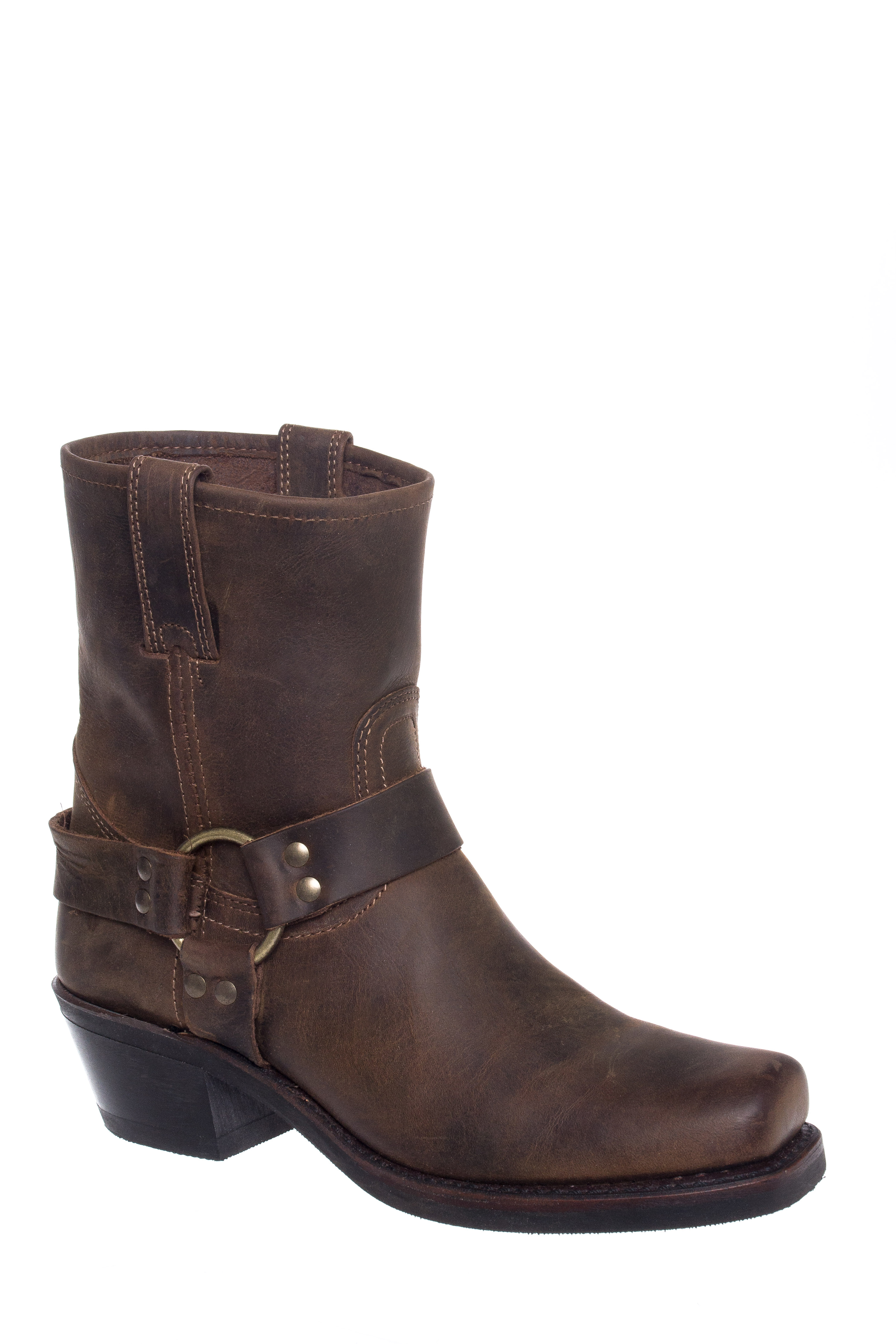 Frye Harness 8R Ankle Boots - Tan