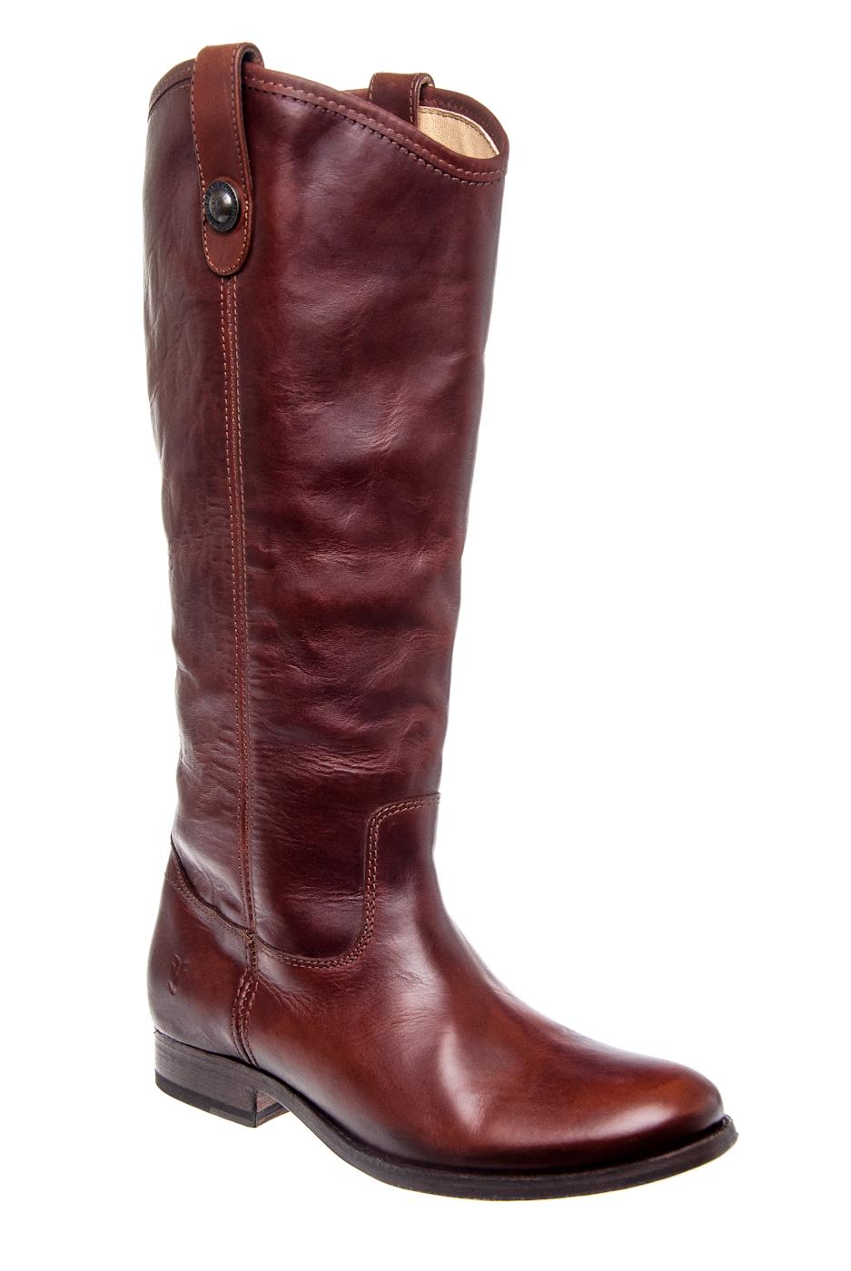 Frye Melissa Button Riding Boots - Cognac