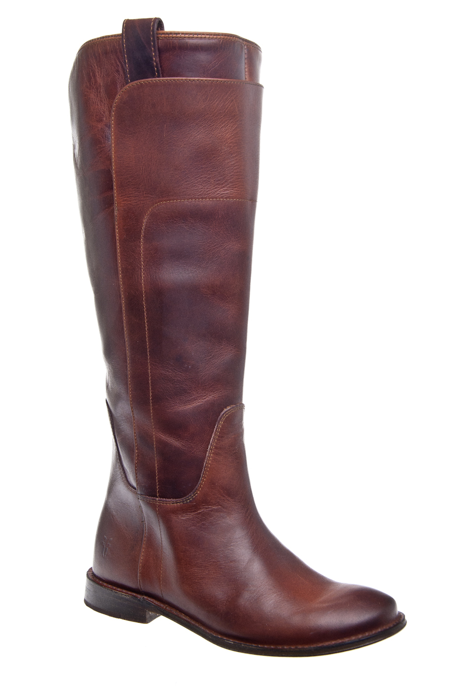 Frye Paige Tall Riding Casual Low Heel Boot - Cognac