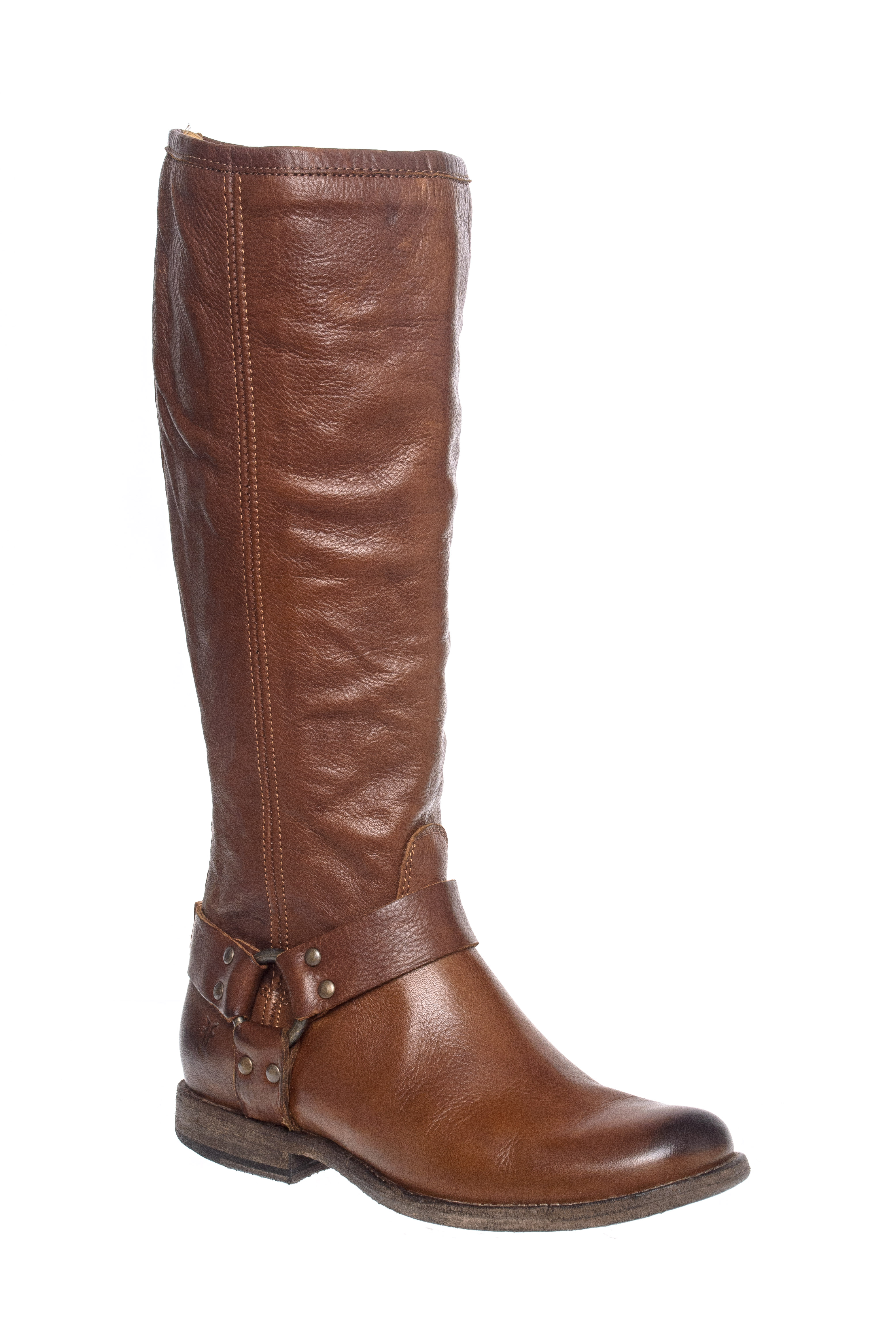Frye Phillip Harness Tall Boots - Cognac