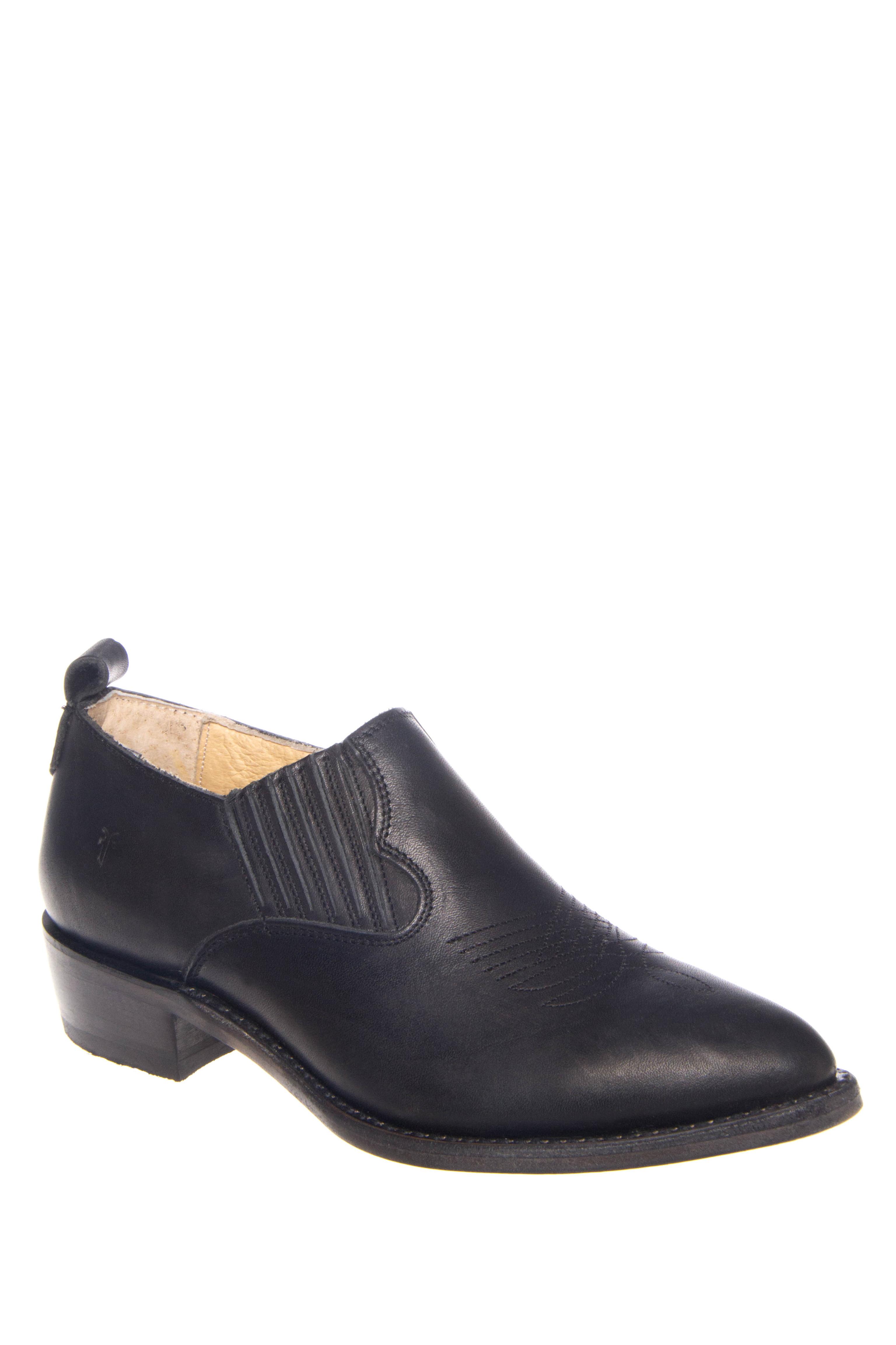 Frye Billy Low Heel Ankle Booties - Black