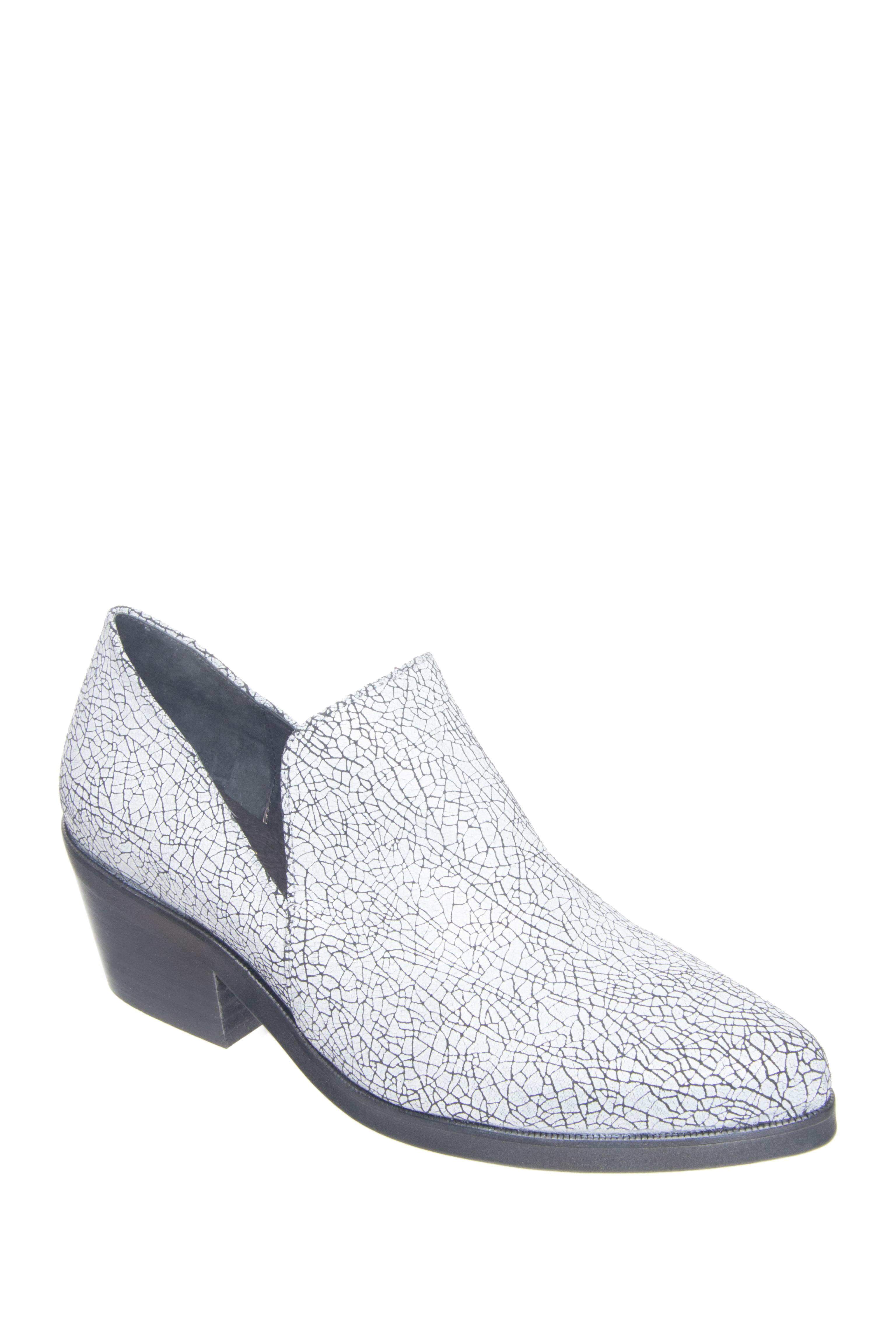 Shellys London Johnna Mid Heel Shoes - Black / White