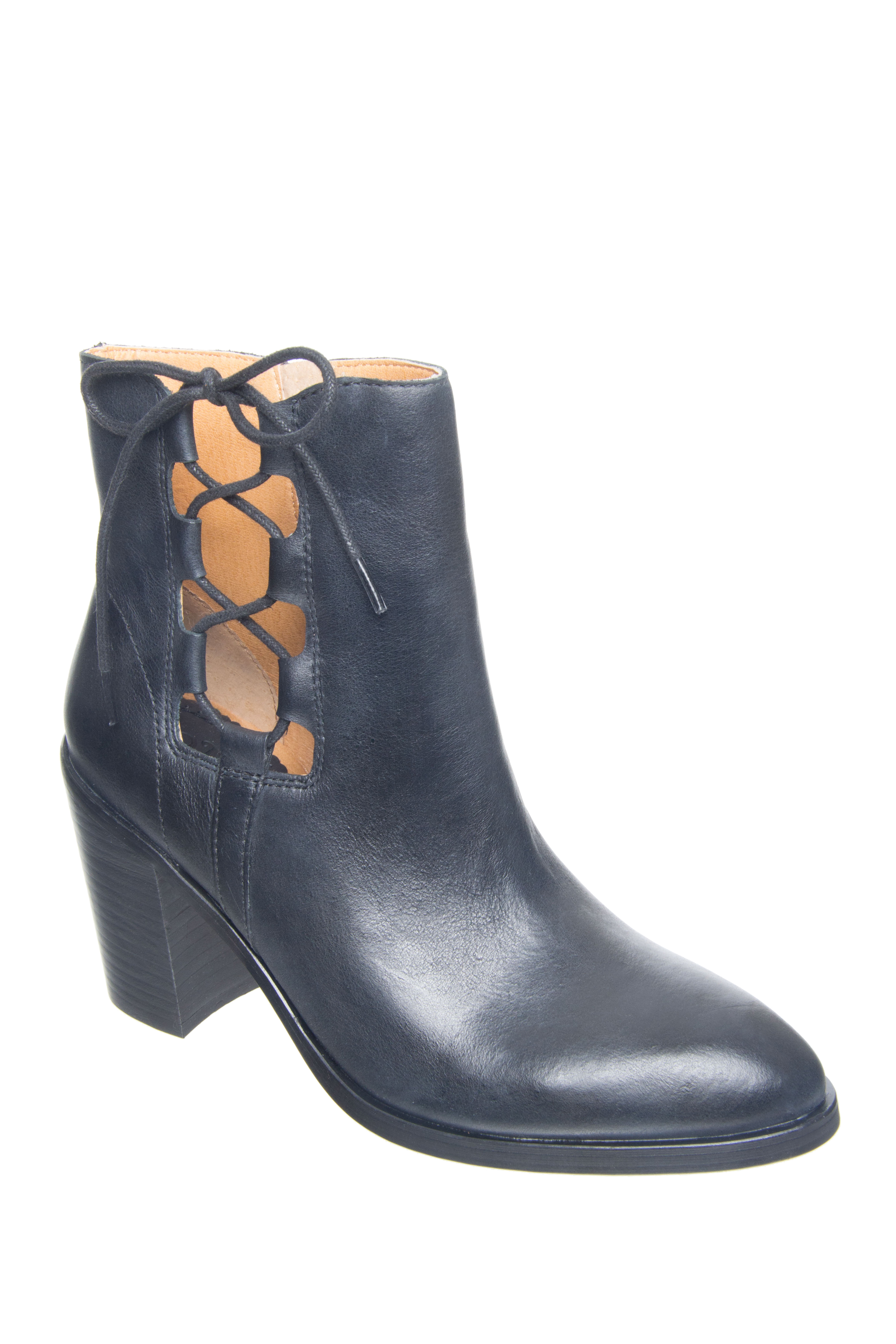 LATIGO Jace Lace Booties - Black