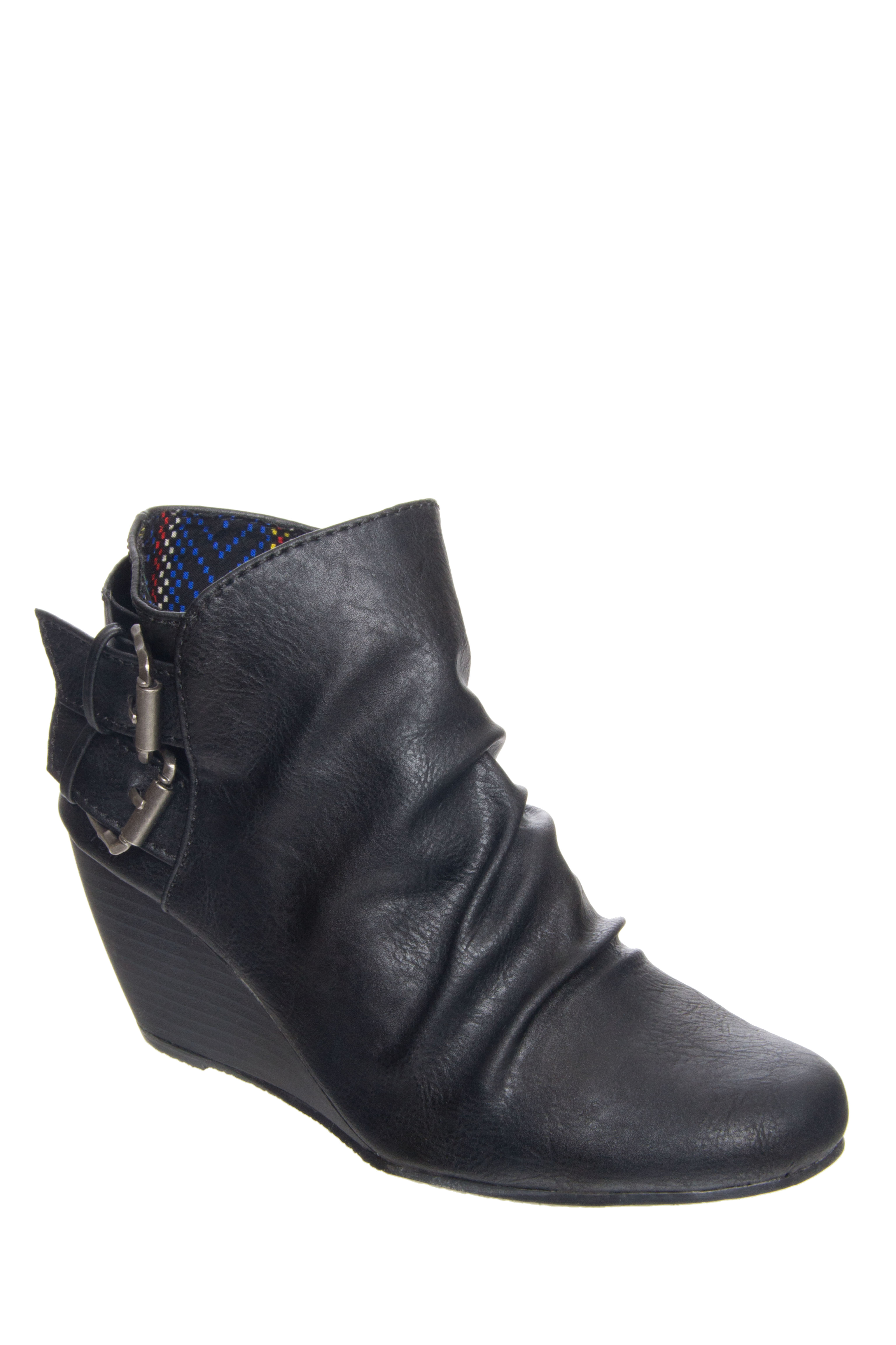Blowfish Bug Mid Heel Booties - Black