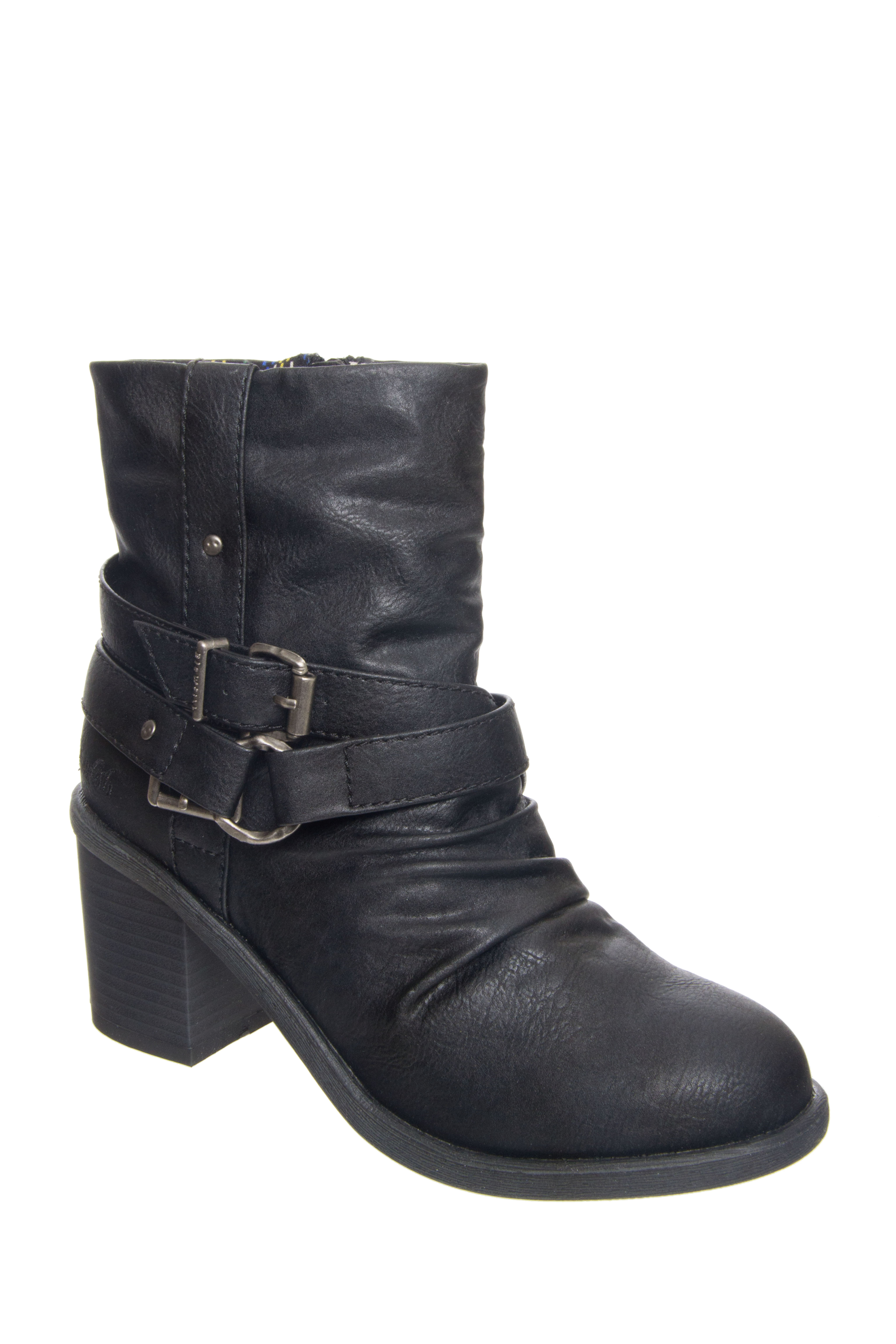 Blowfish Moran Mid Heel Booties - Black