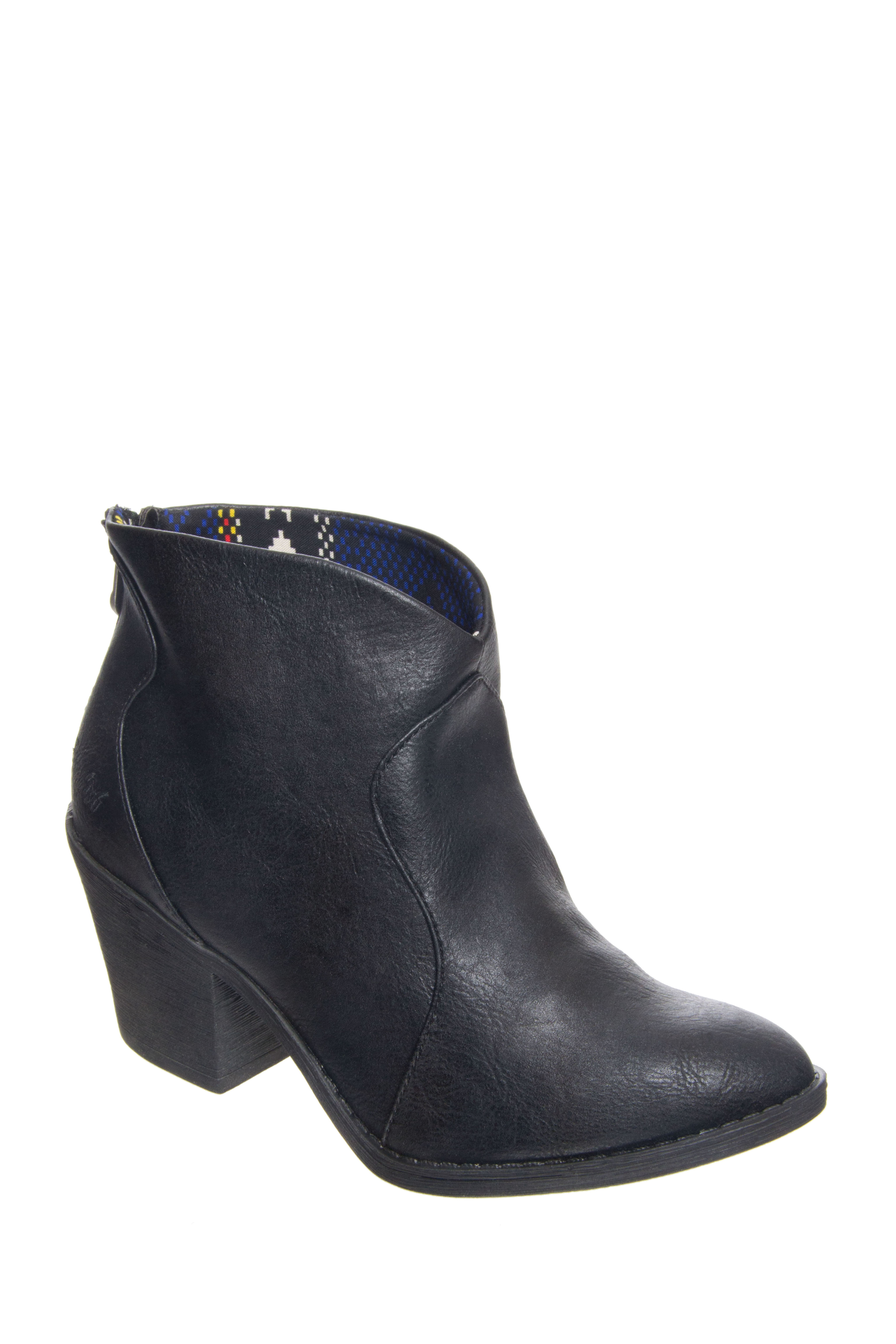 Blowfish Schloss Mid Heel Booties - Black Old Ranger