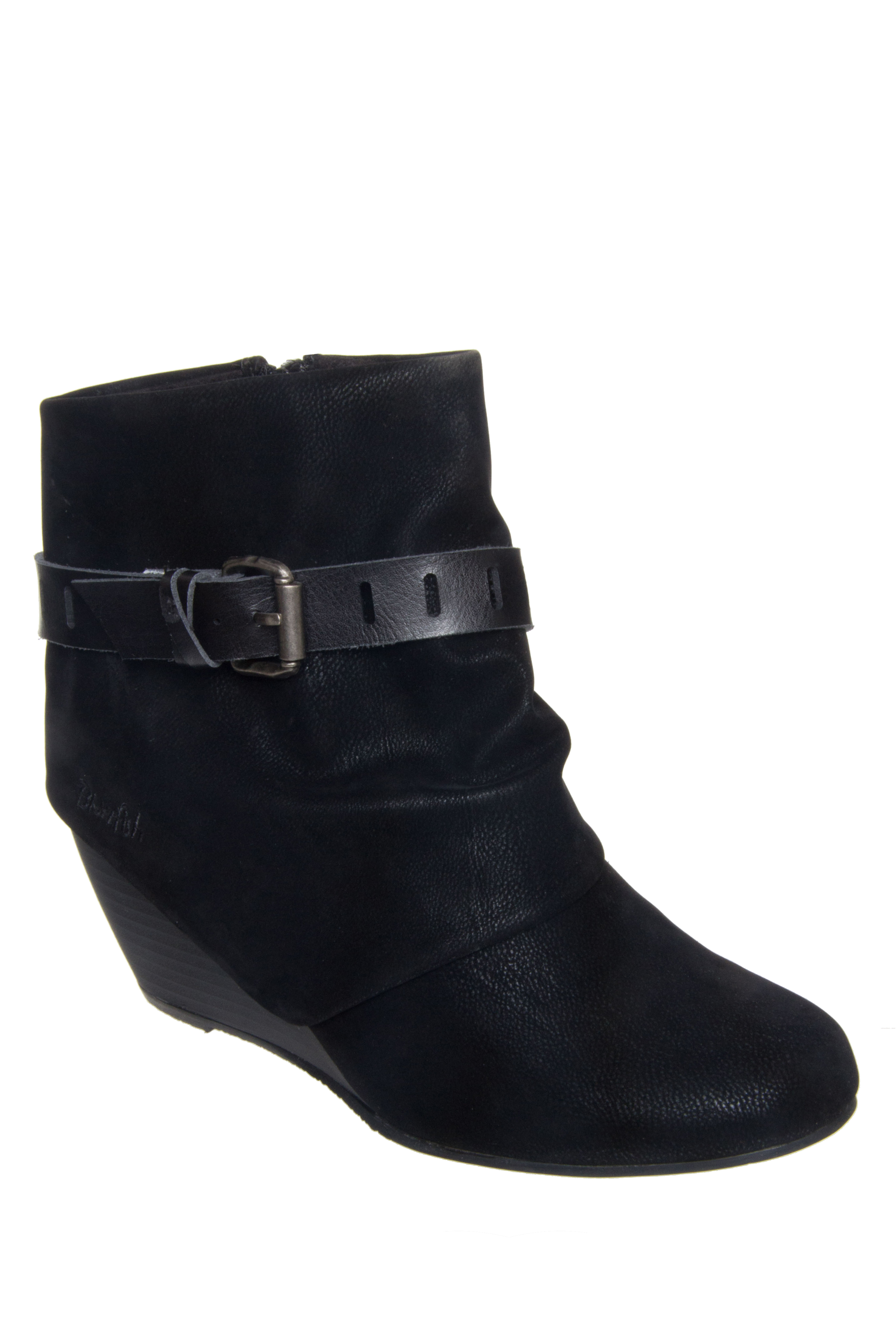 Blowfish Beryl Mid Wedge Booties - Black