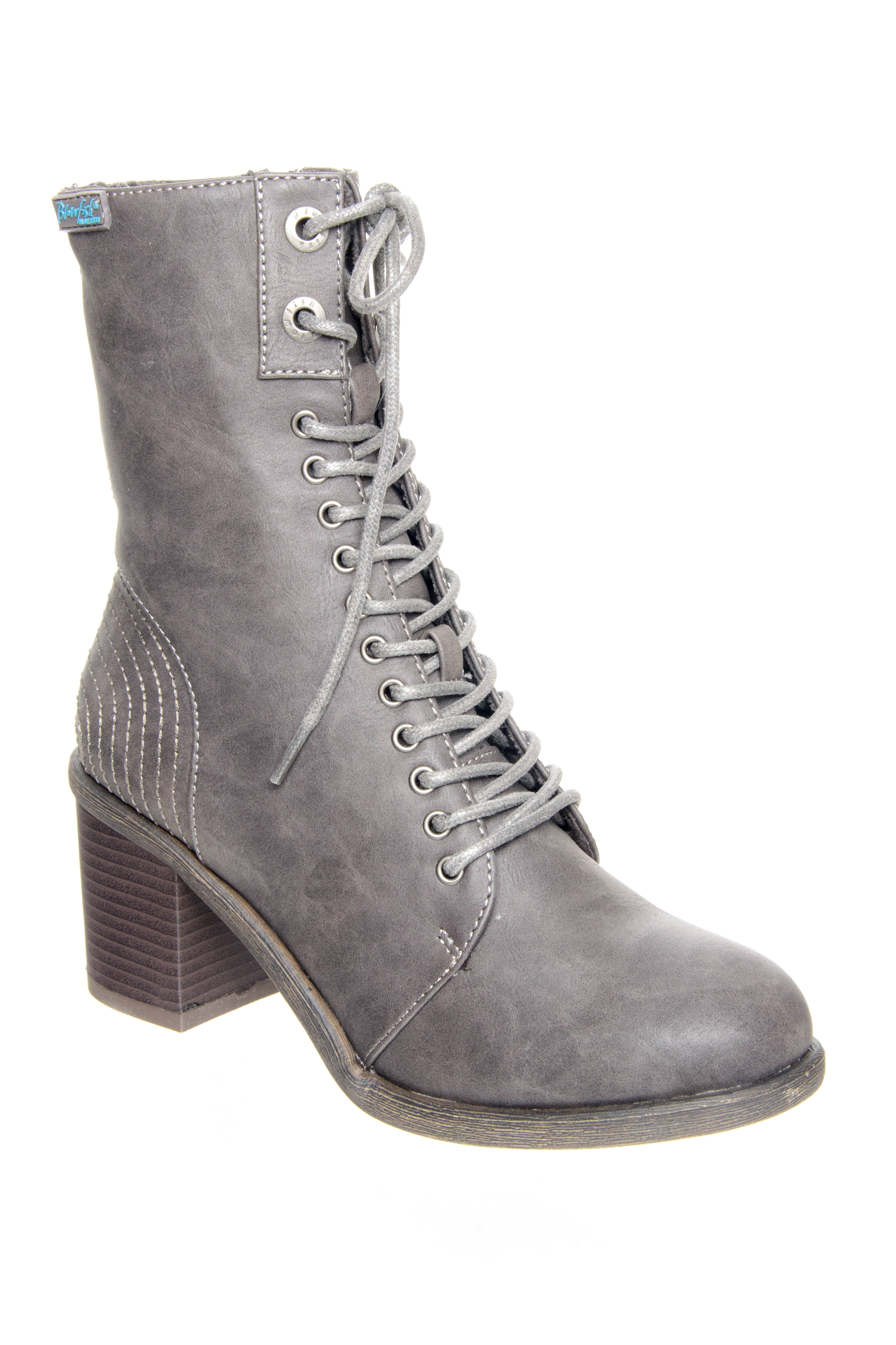 Blowfish Mammer Mid Heel Boots - Grey