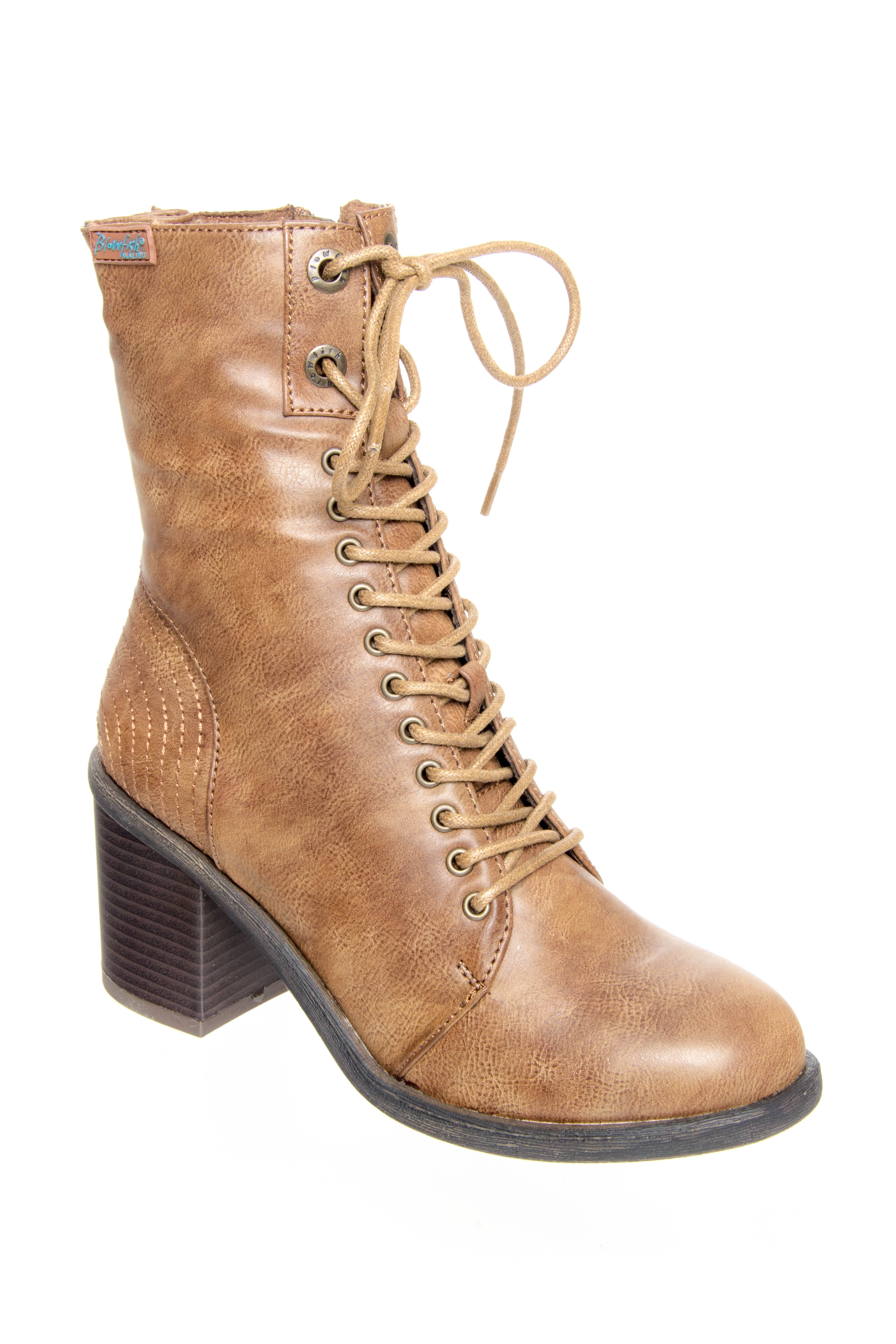 Blowfish Mammer Mid Heel Boots - Whiskey