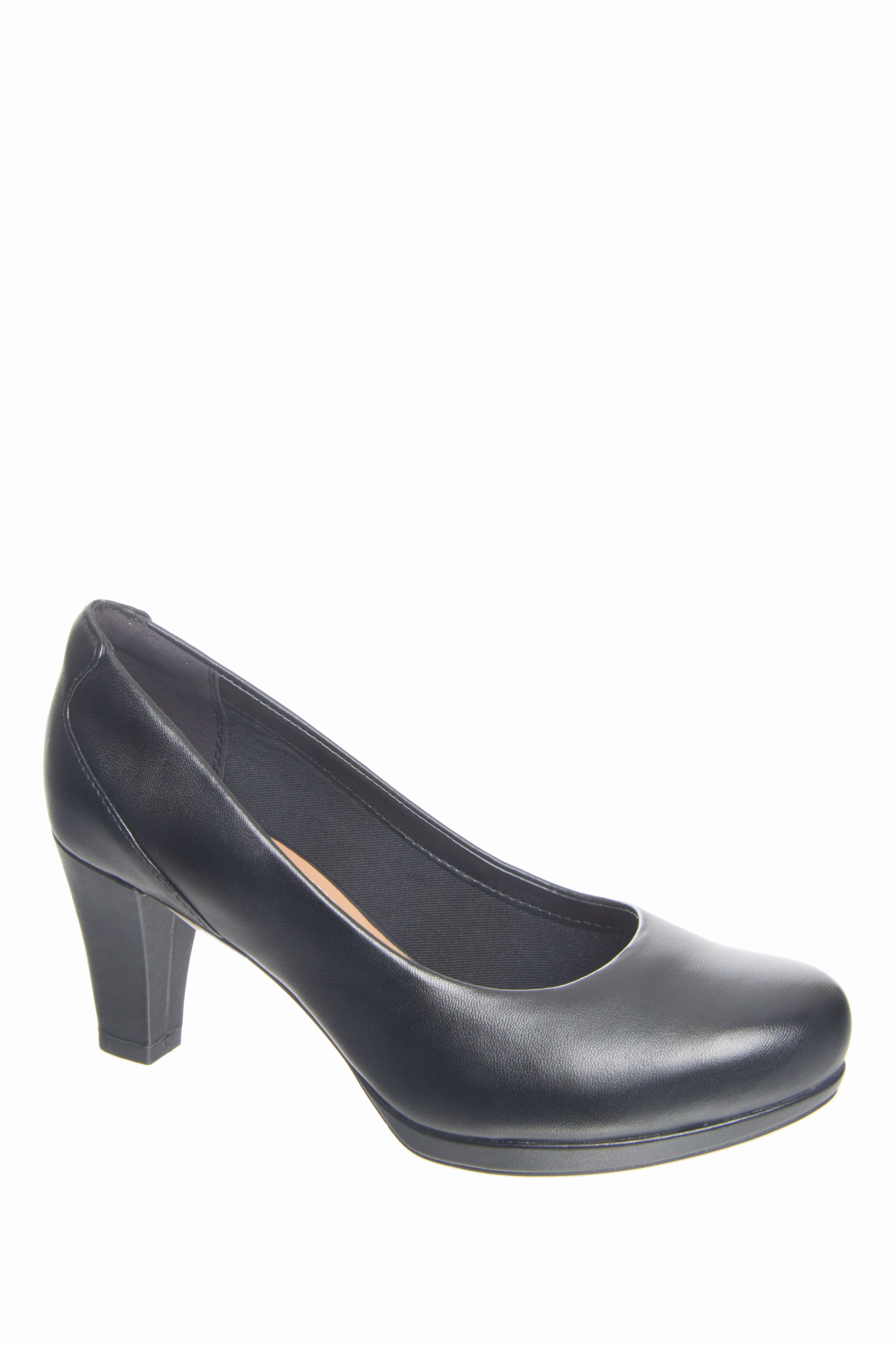 Clarks Chorus Chic Mid Heel Pointed Toe Pumps - Black