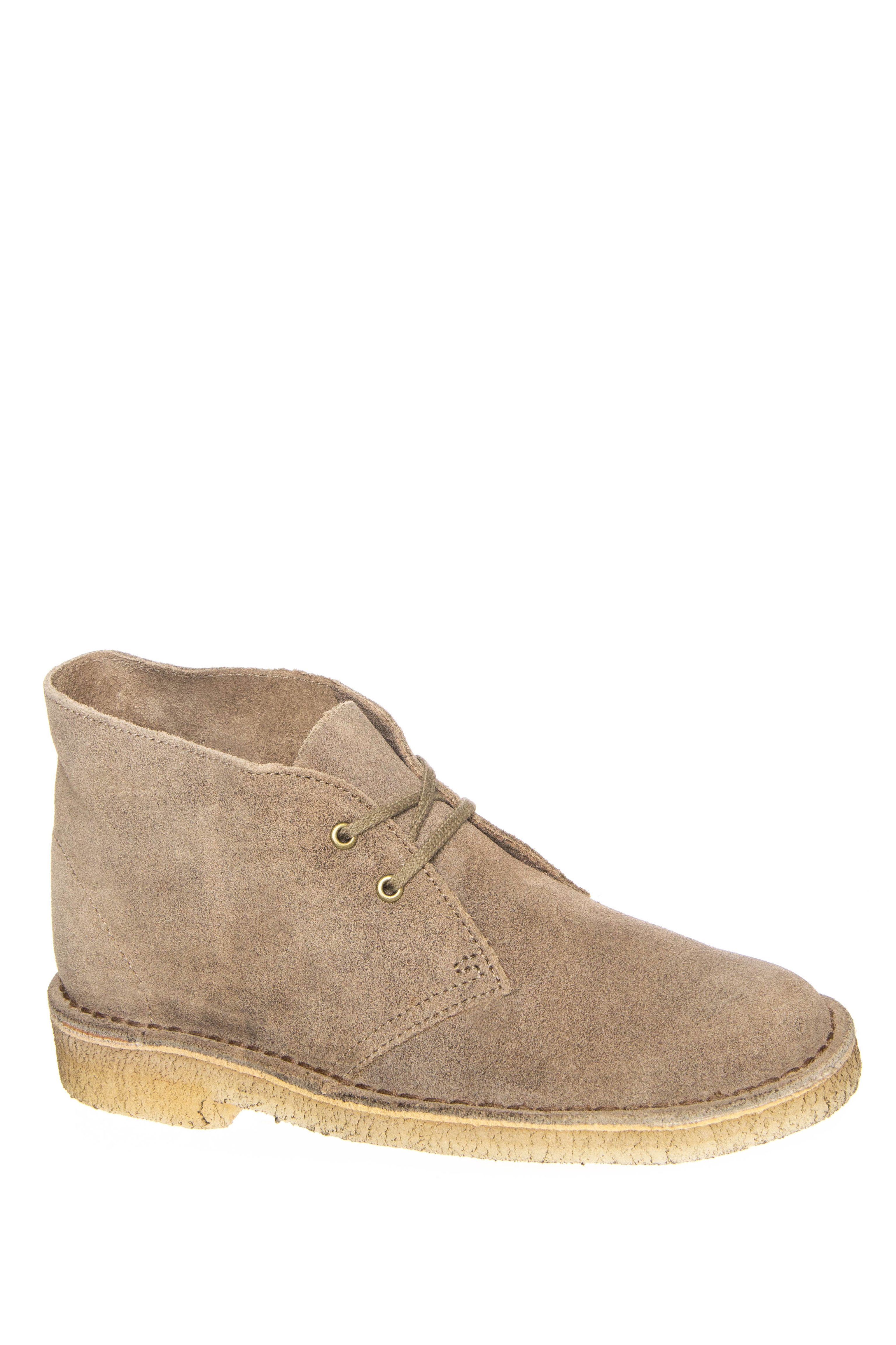Clarks Desert Low Heel Boots - Taupe Distressed