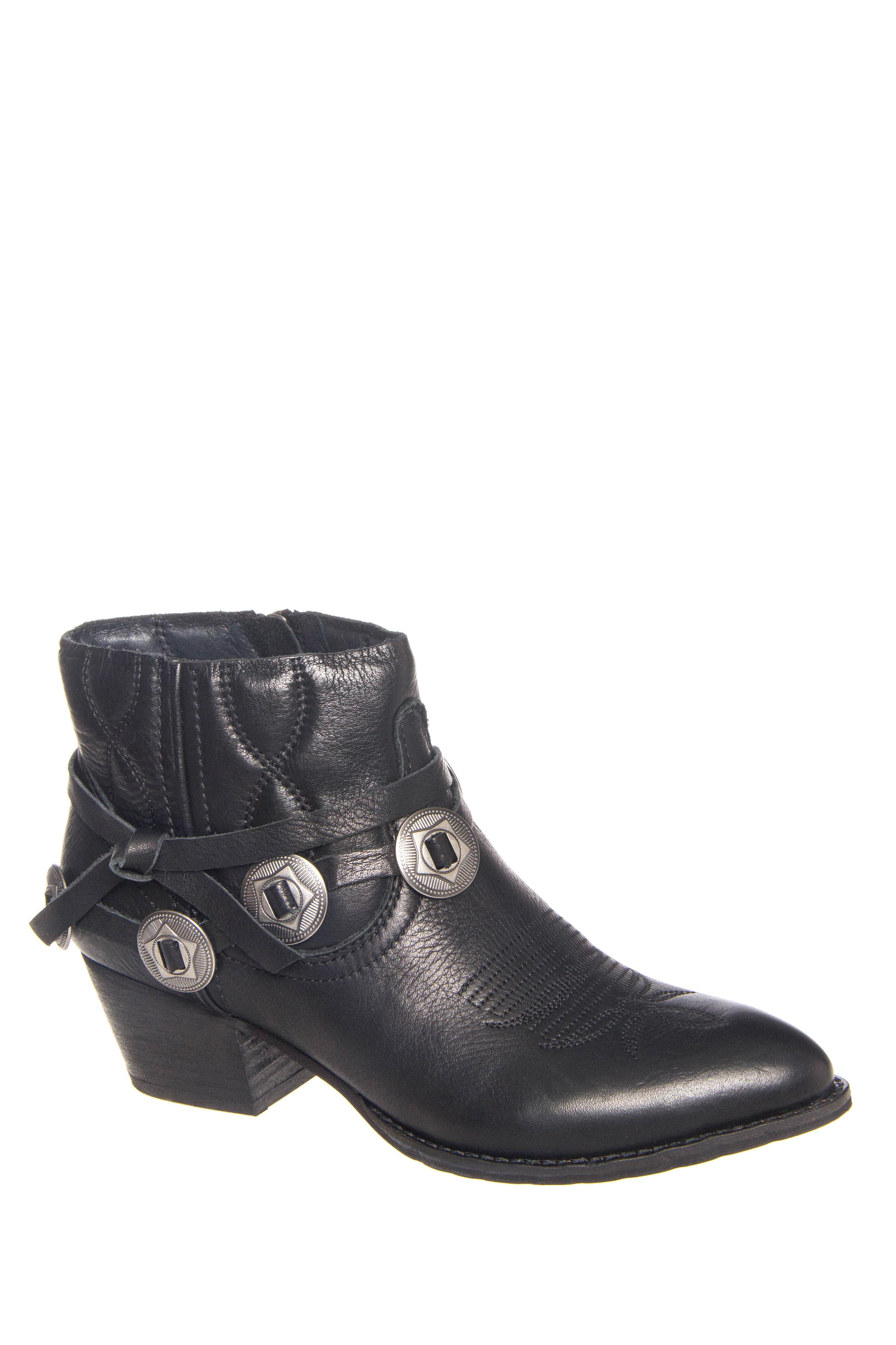 Dolce Vita Skye Mid Heel Ankle Booties - Black
