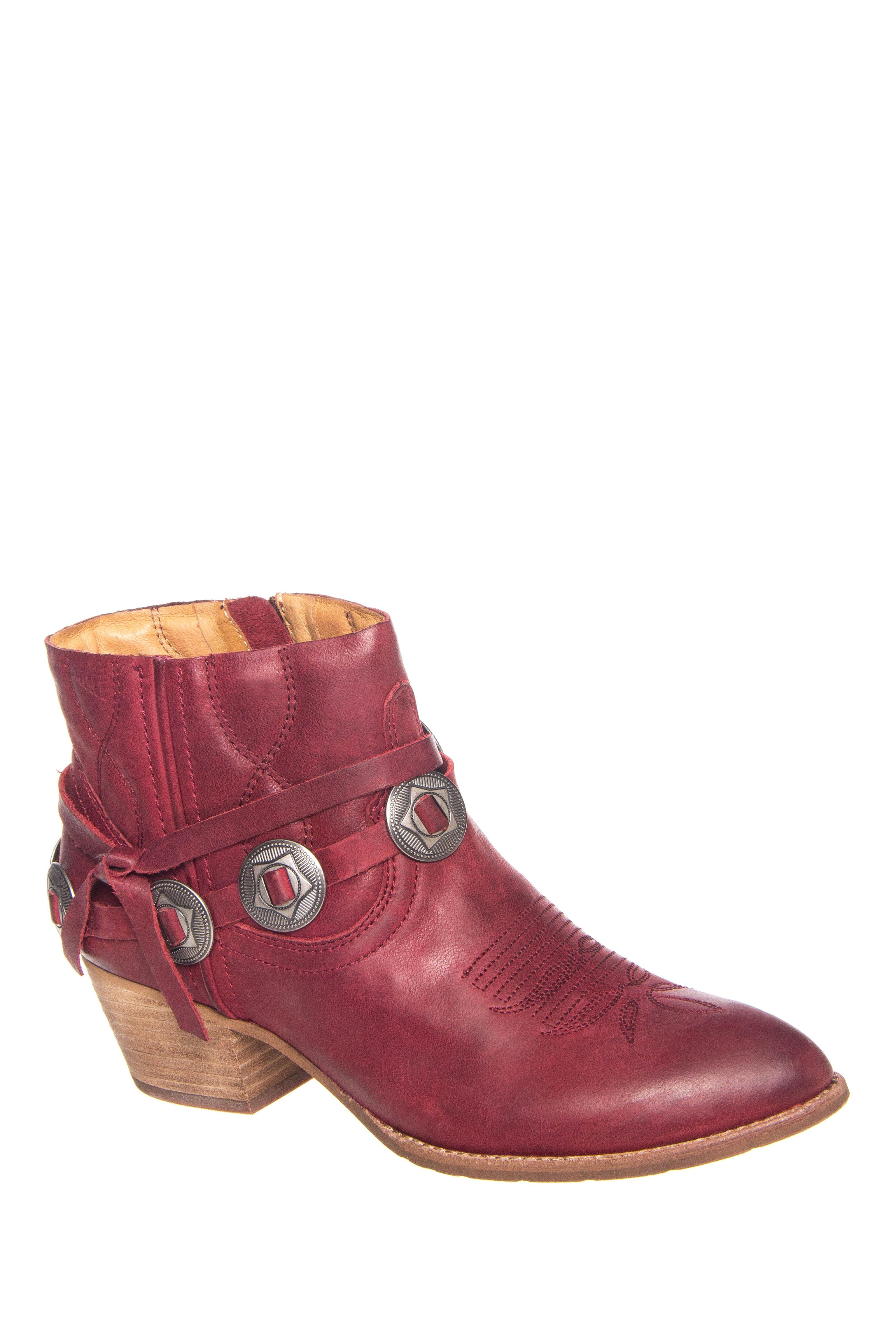 Dolce Vita Skye Mid Heel Ankle Booties - Red
