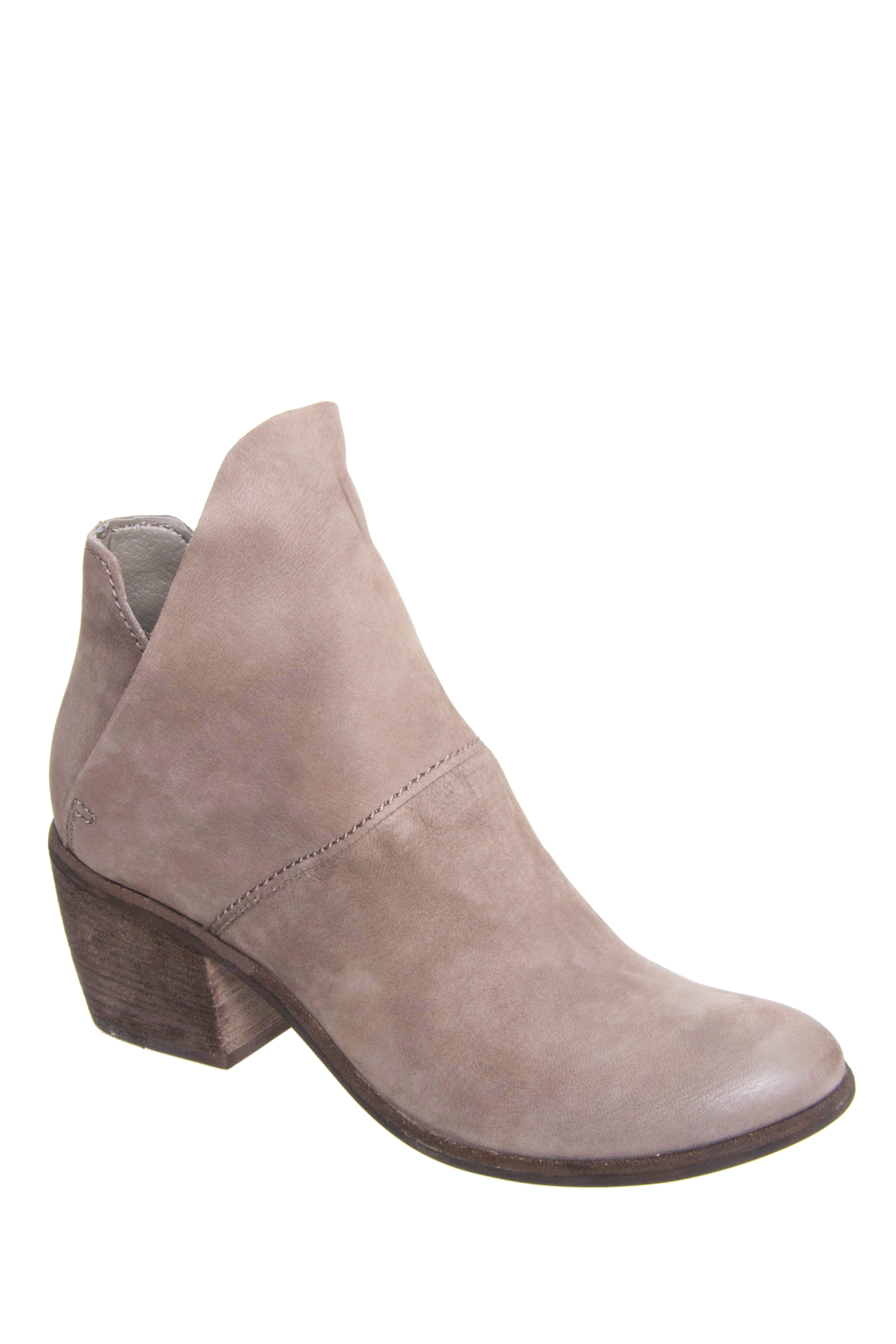 Dolce Vita Salena Mid Heel Booties - Grey Nubuck