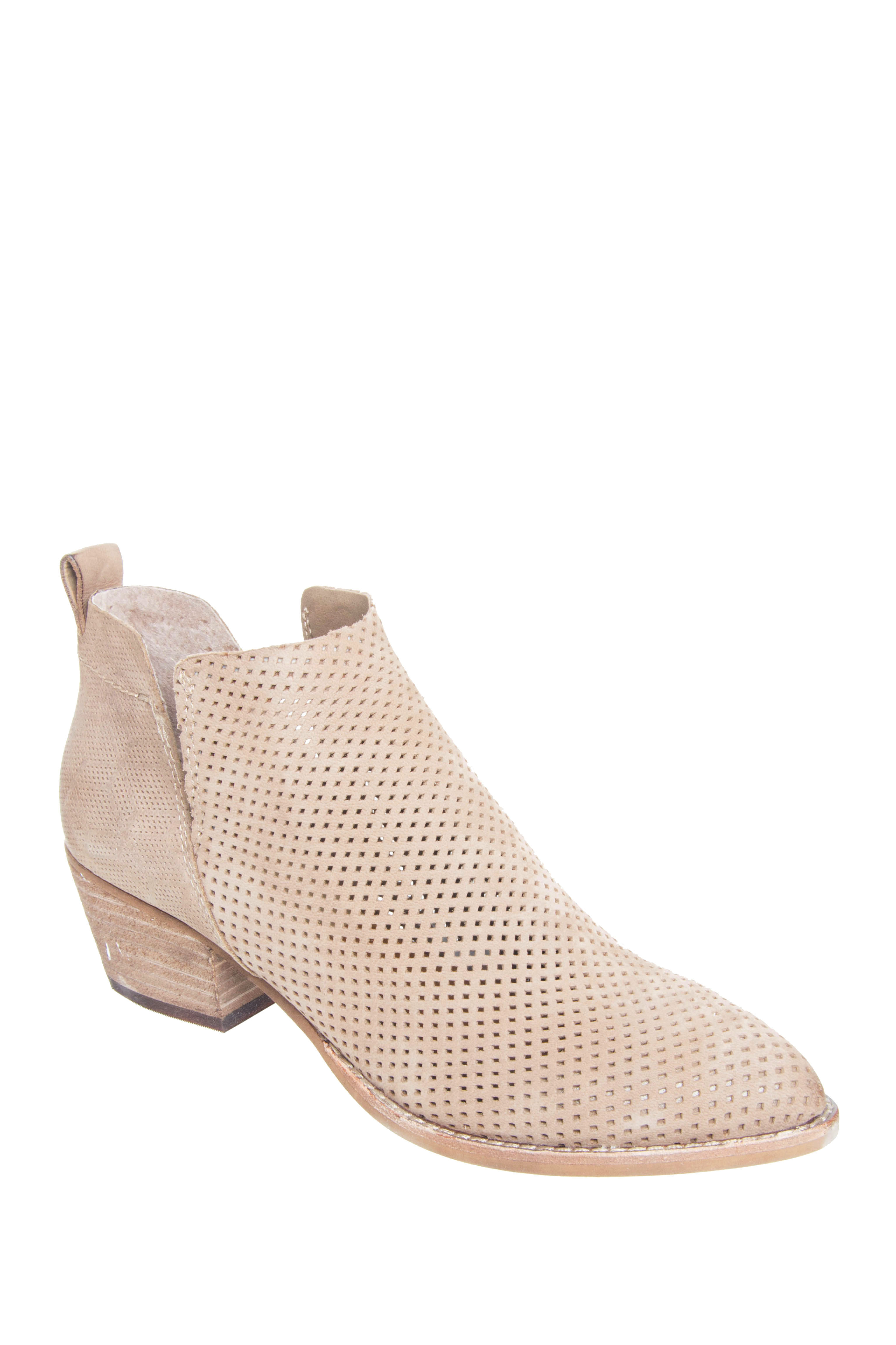 Dolce Vita Sonya Mid Heel Booties - Taupe Nubuck
