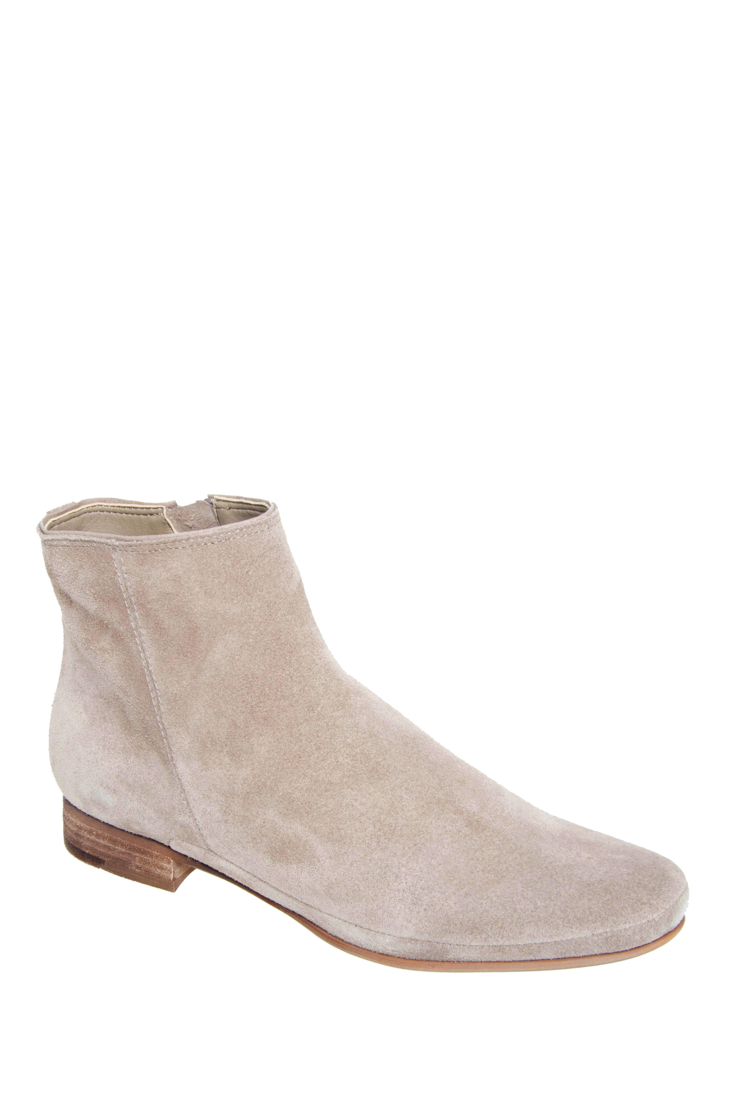 Dolce Vita Taj Low Heel Booties - Taupe Suede