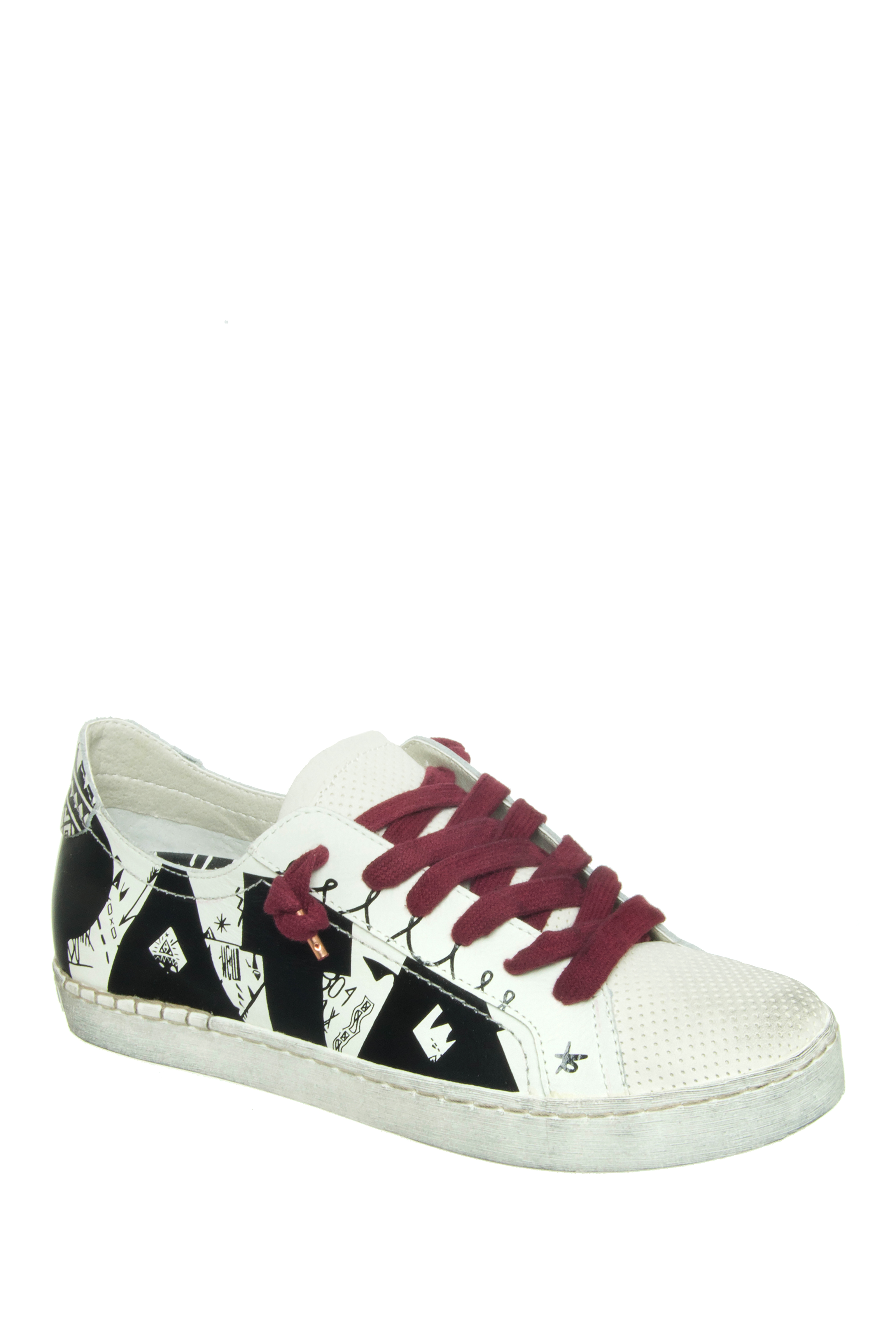 Dolce Vita Z-Pata Lace Up Sneakers - White