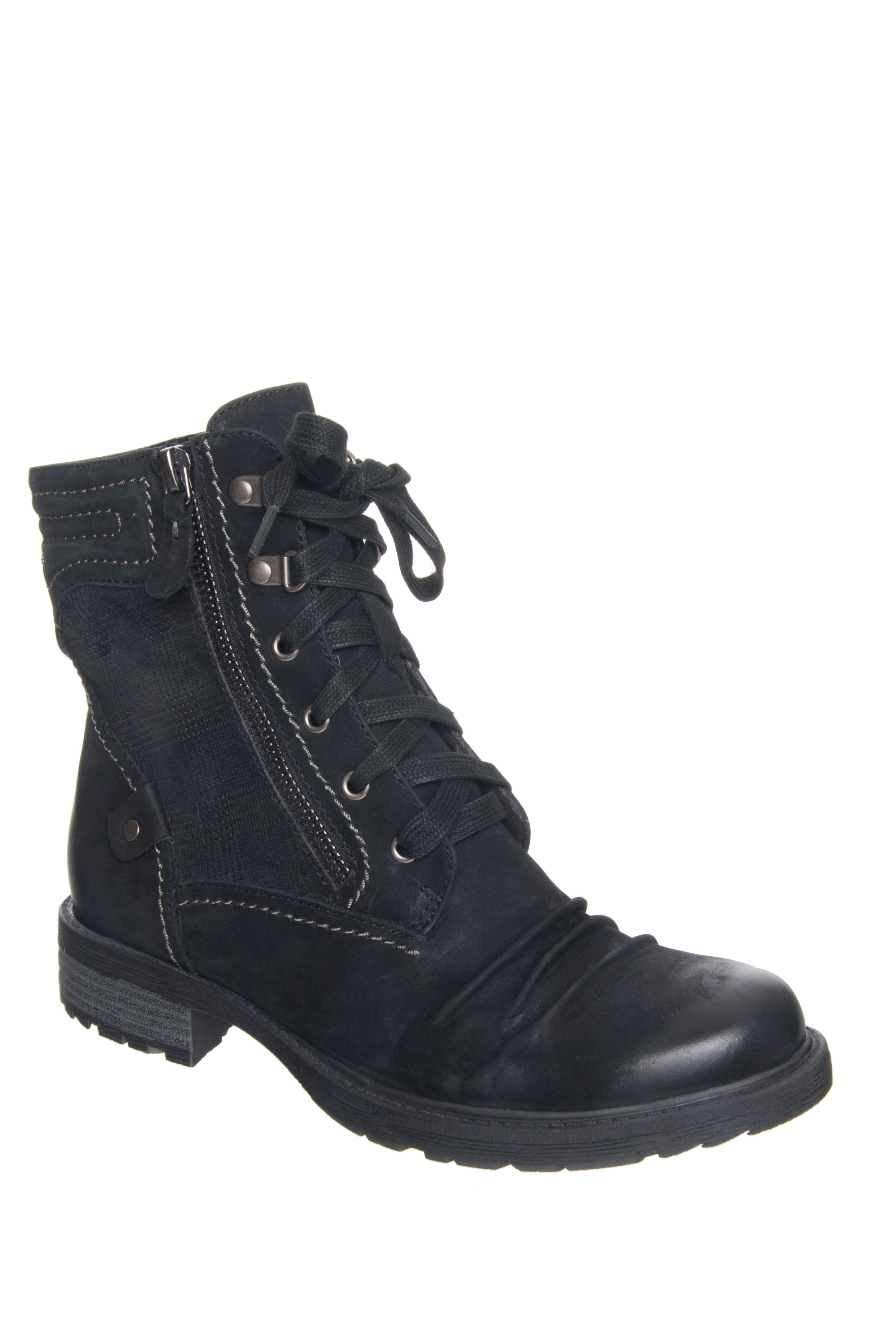 Earth Summit Lace Up Boots - Black