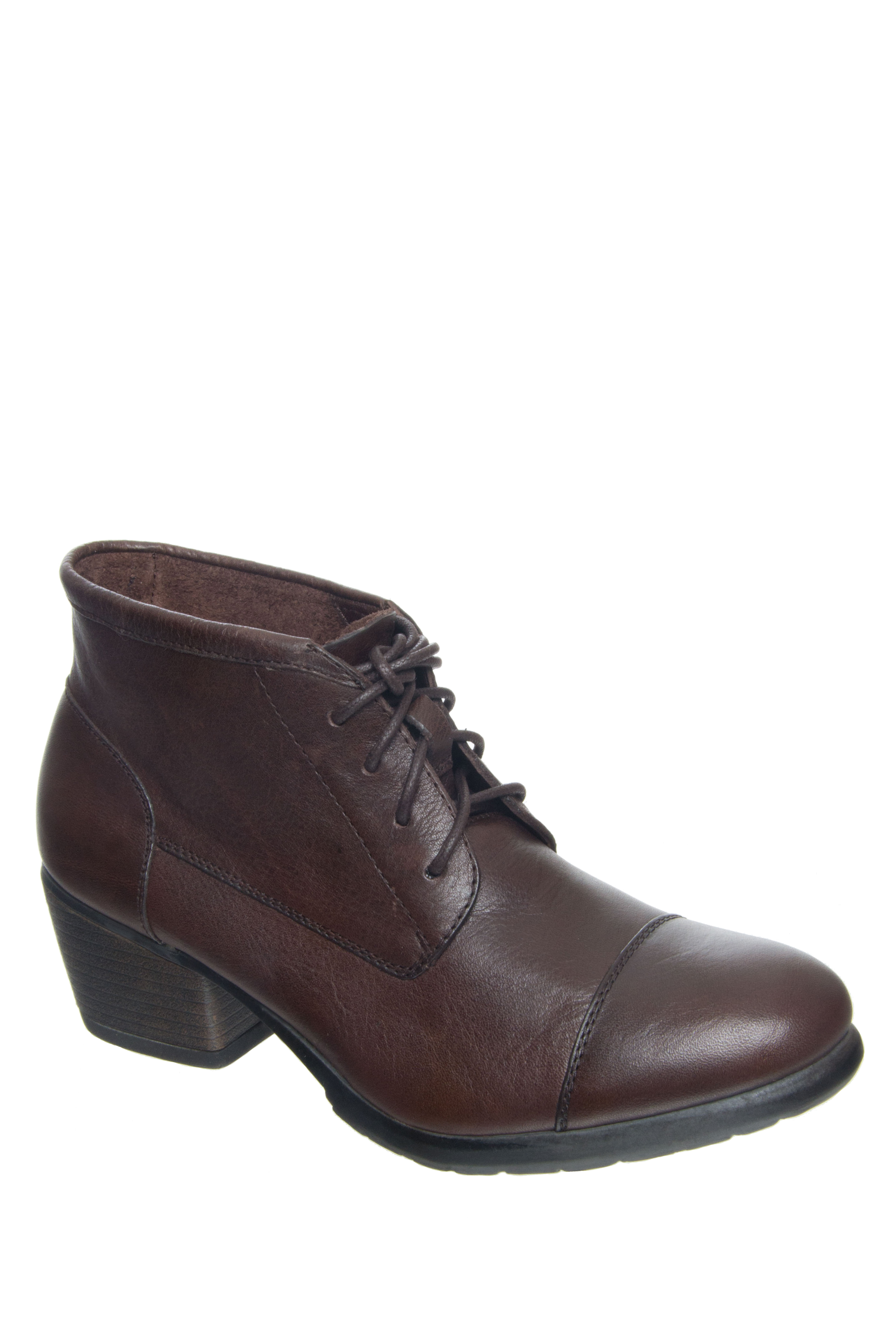 Eastland Alexa Lace Up Booties - Brown