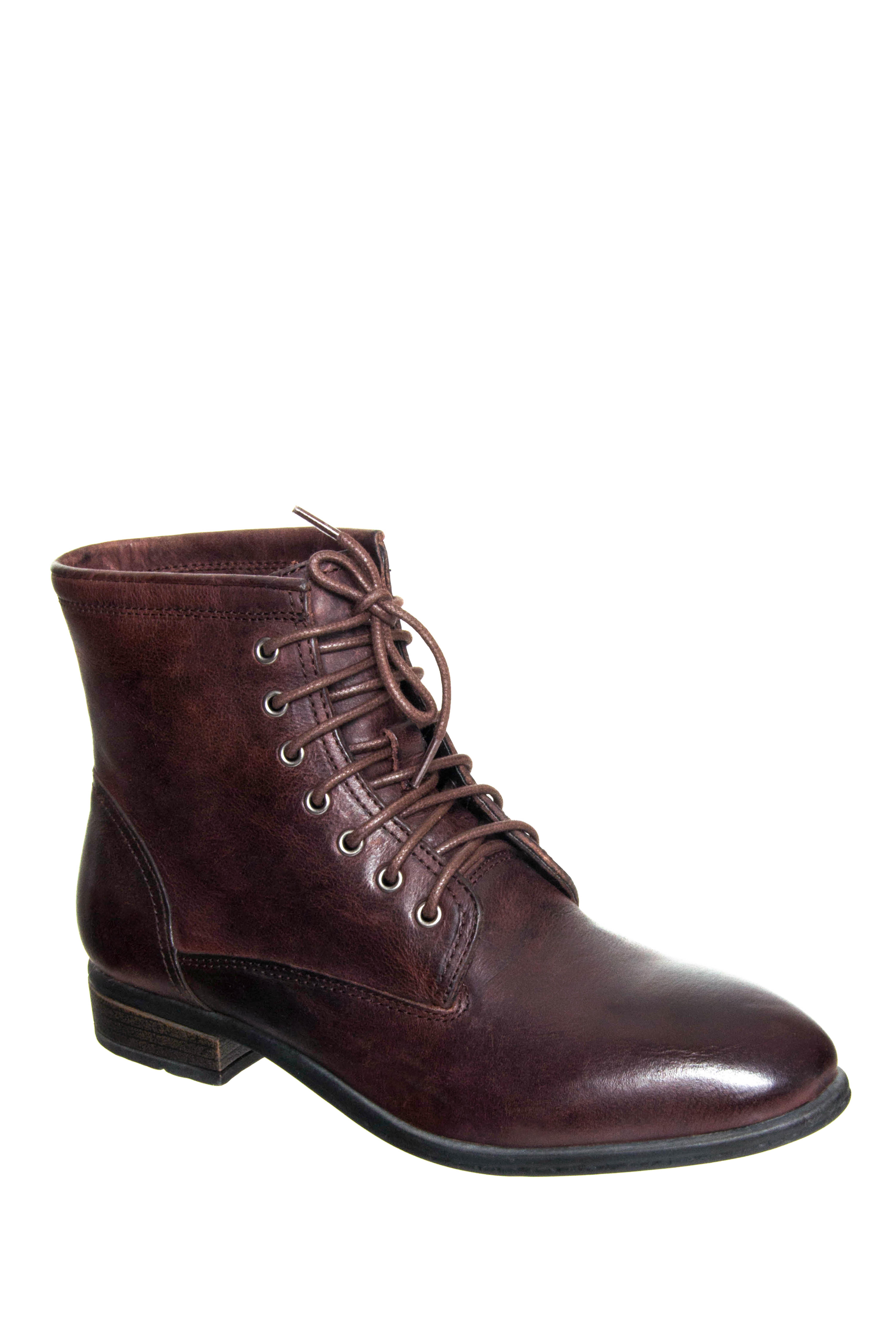 Eastland Juliana Low Heel Boots - Dark Walnut