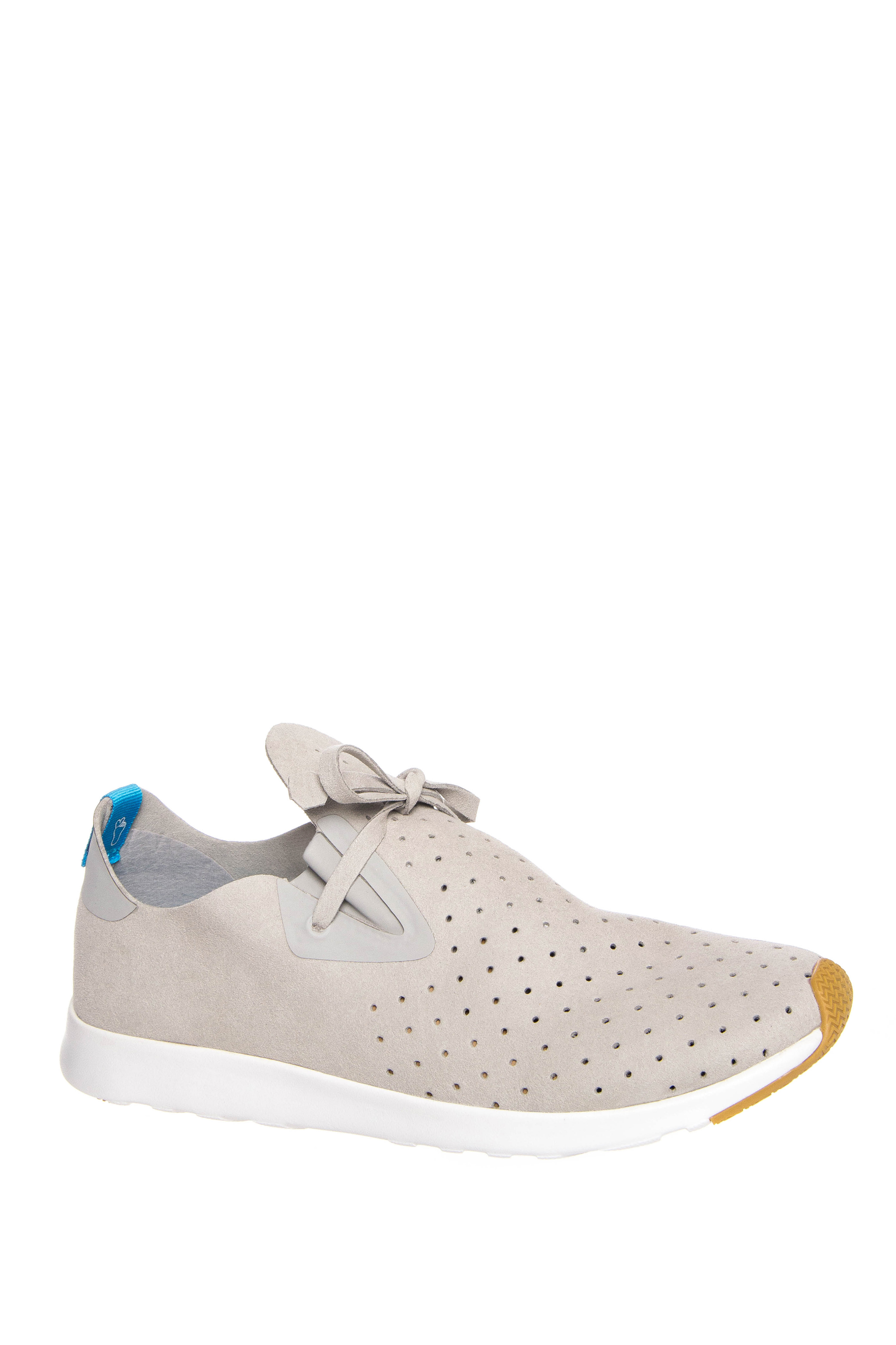 Native Unisex Apollo Moc Low Top Sneakers - Pigeon Grey / Shell White