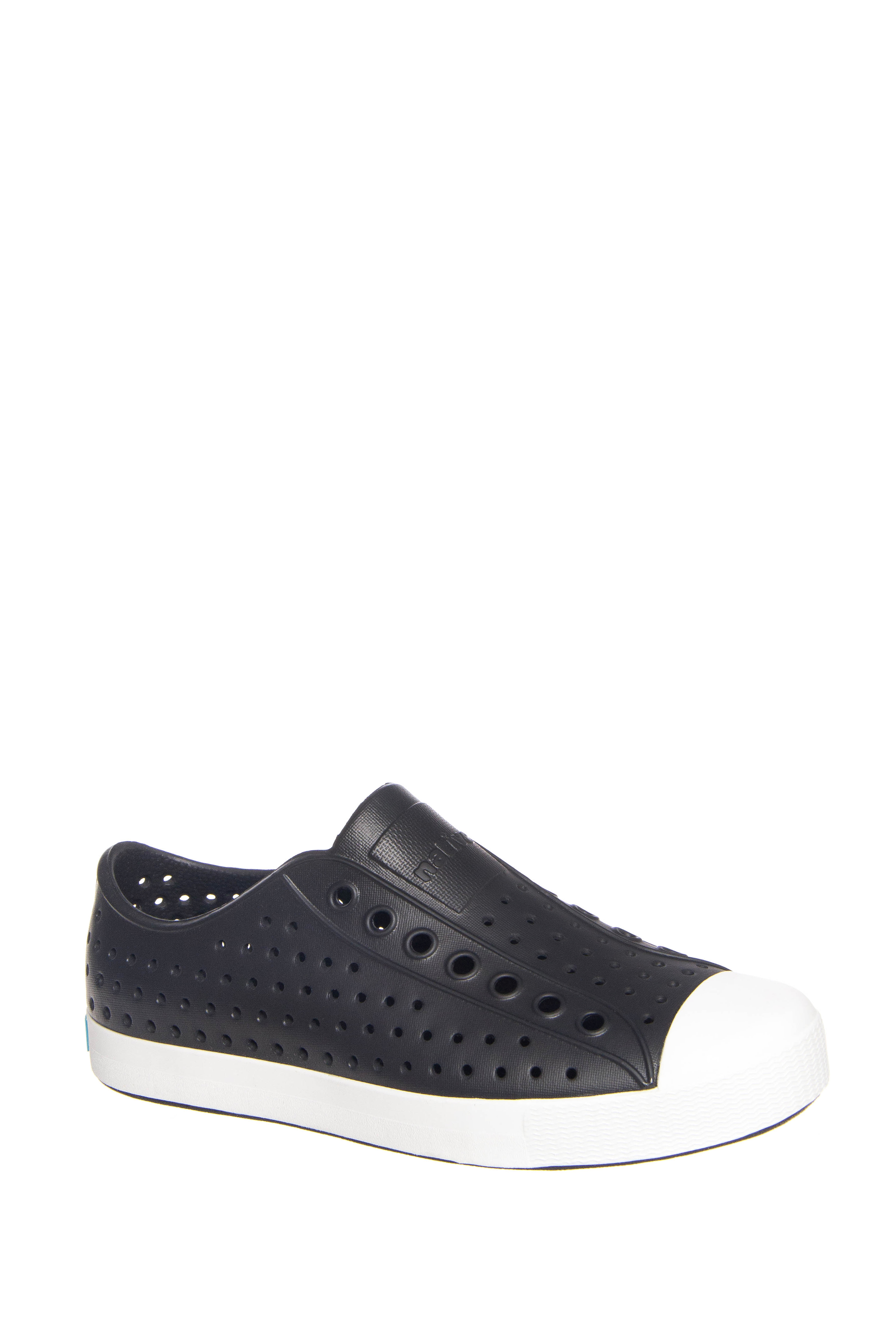 Native Unisex Jefferson Slip On Sneakers - Jiffy Black / Shell White