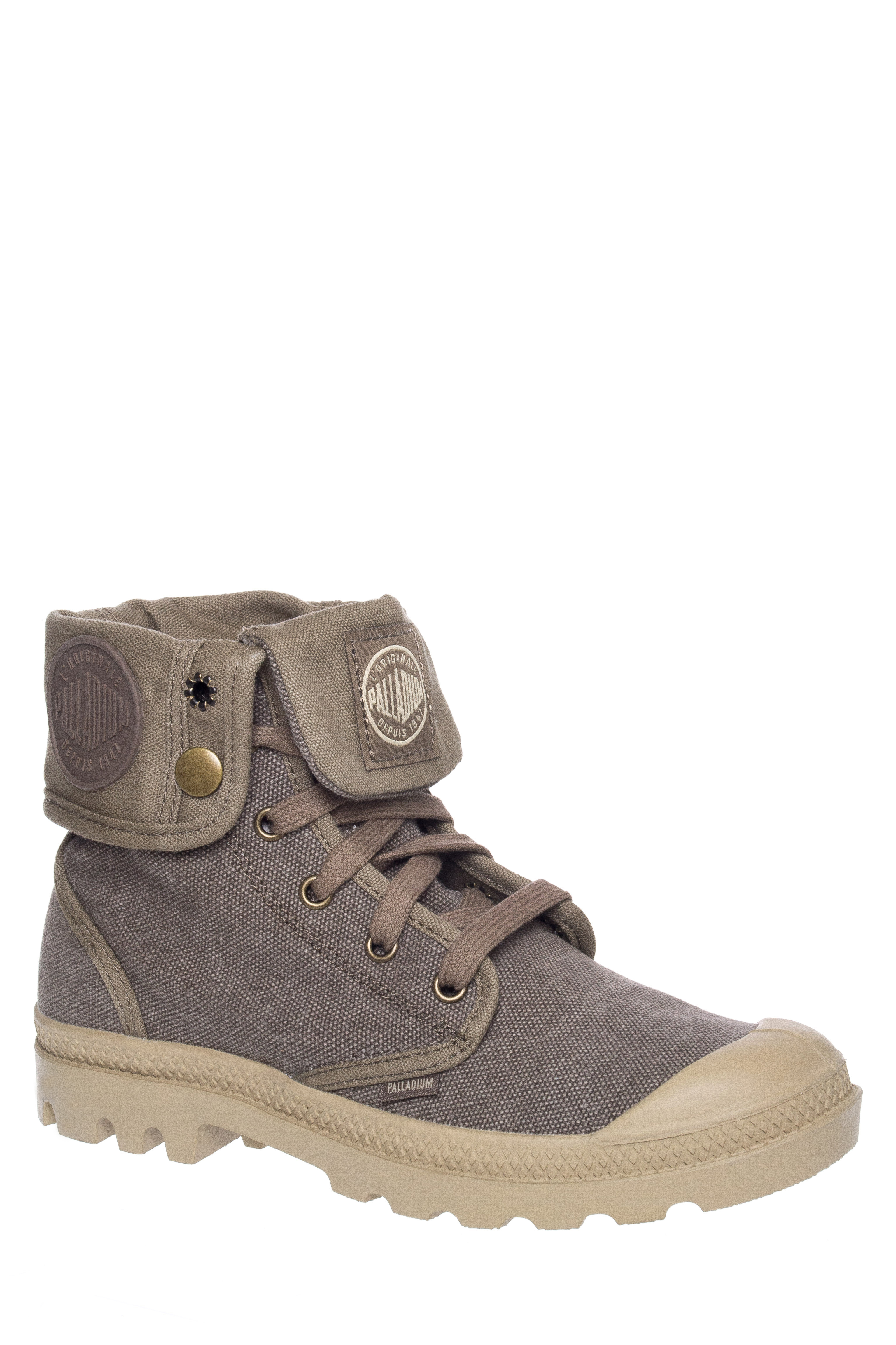 Palladium Baggy Low Heel Lace-Up Boots - Boue / Putty