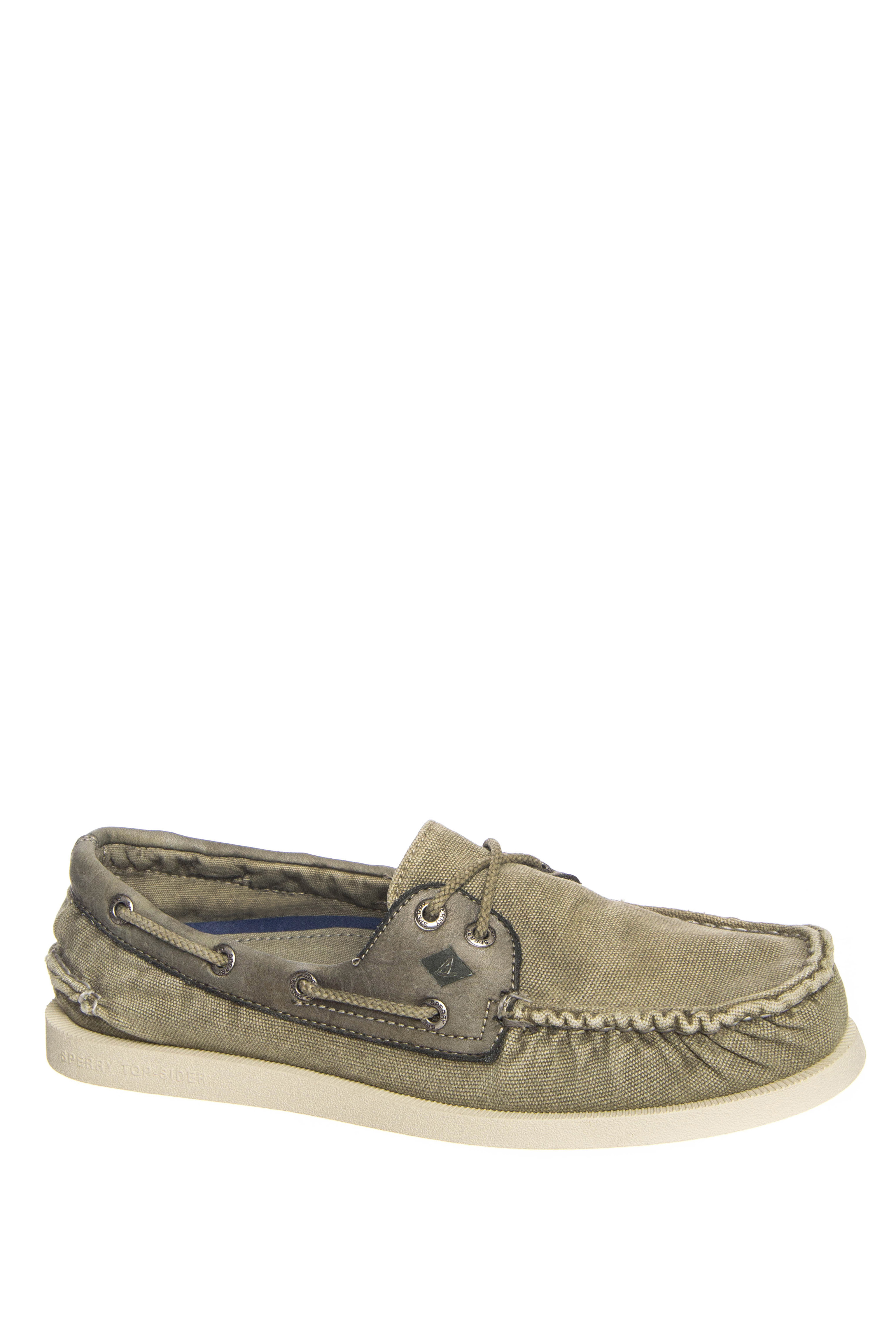 Sperry Men's Authentic Original Wedge Canvas Boat Shoe - Olive