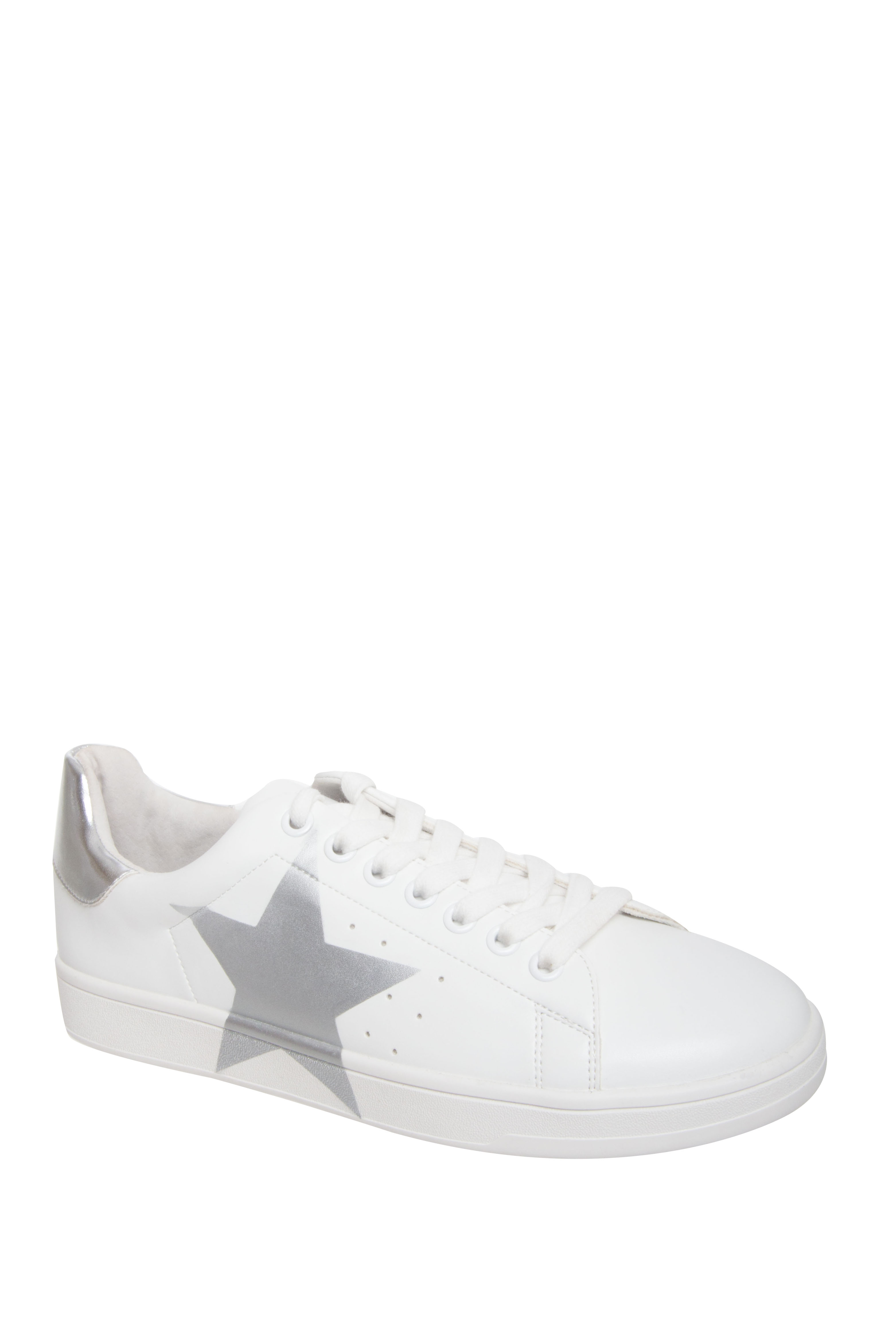 Steve Madden Rayner Low Top Sneakers - White / Silver