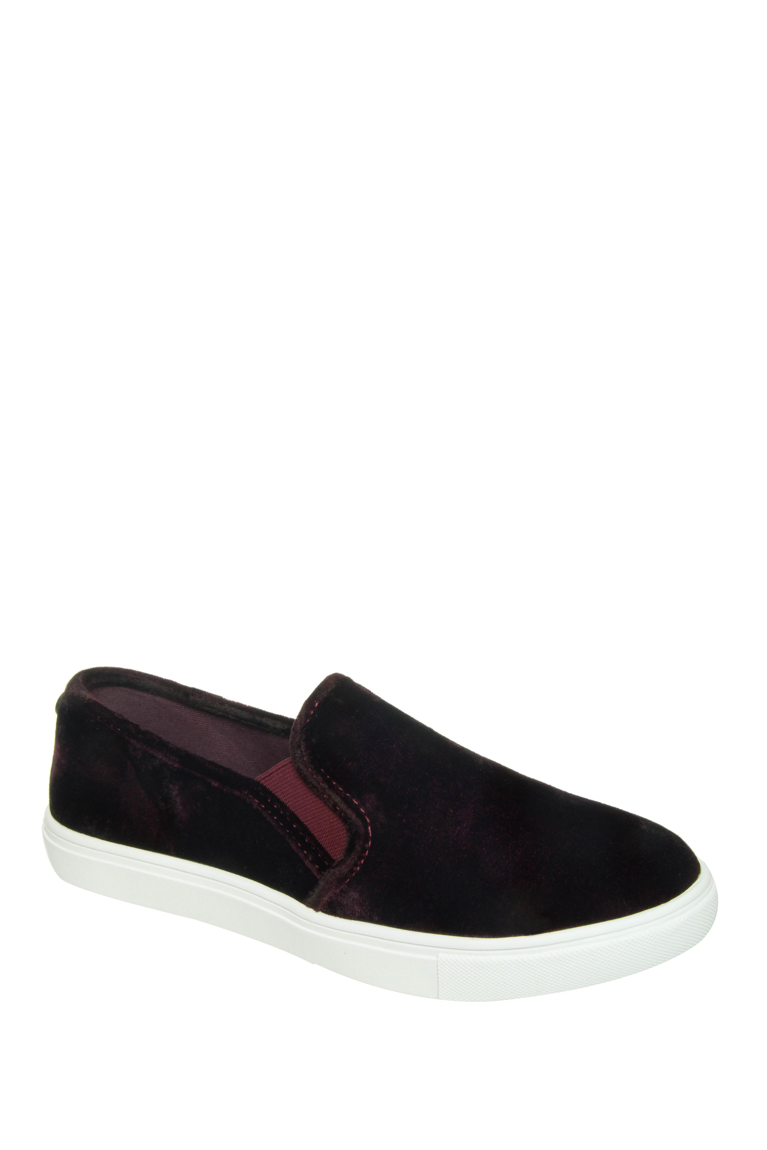 Steve Madden ECNTRCV Slip-On Sneakers - Burgundy Velvet