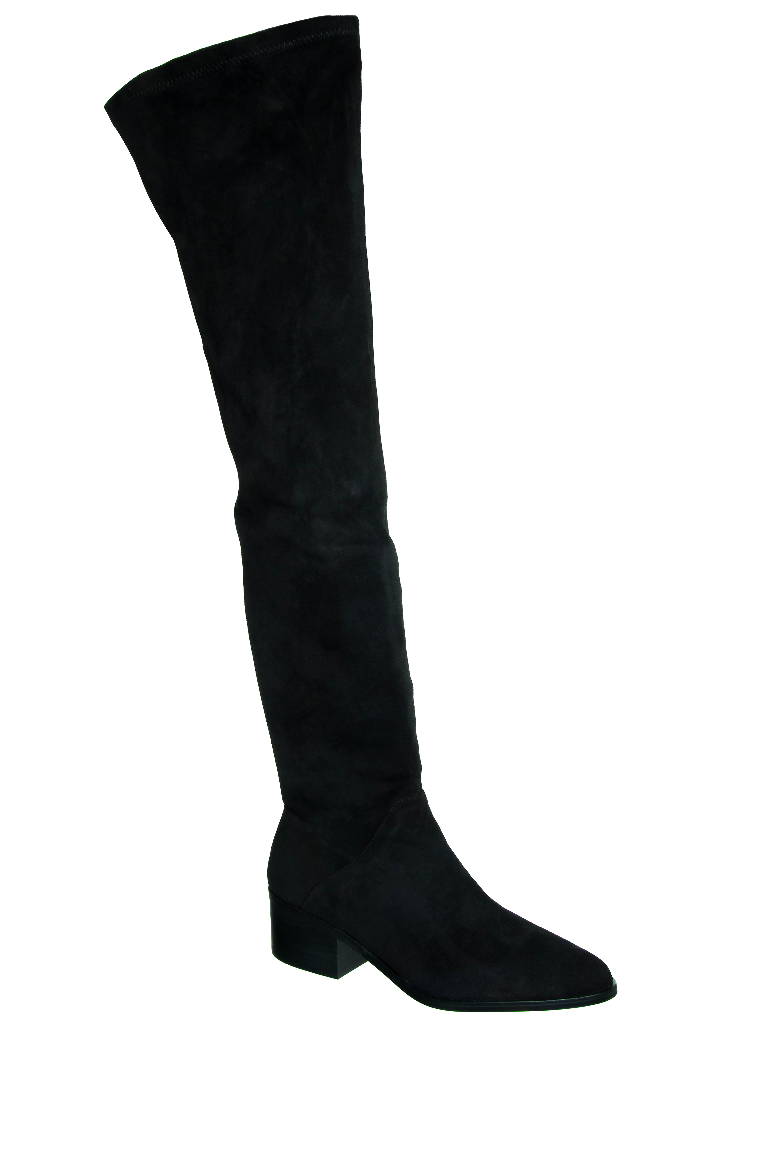 Steve Madden Gabriana Over-The-Knee Zip Boots - Black Suede