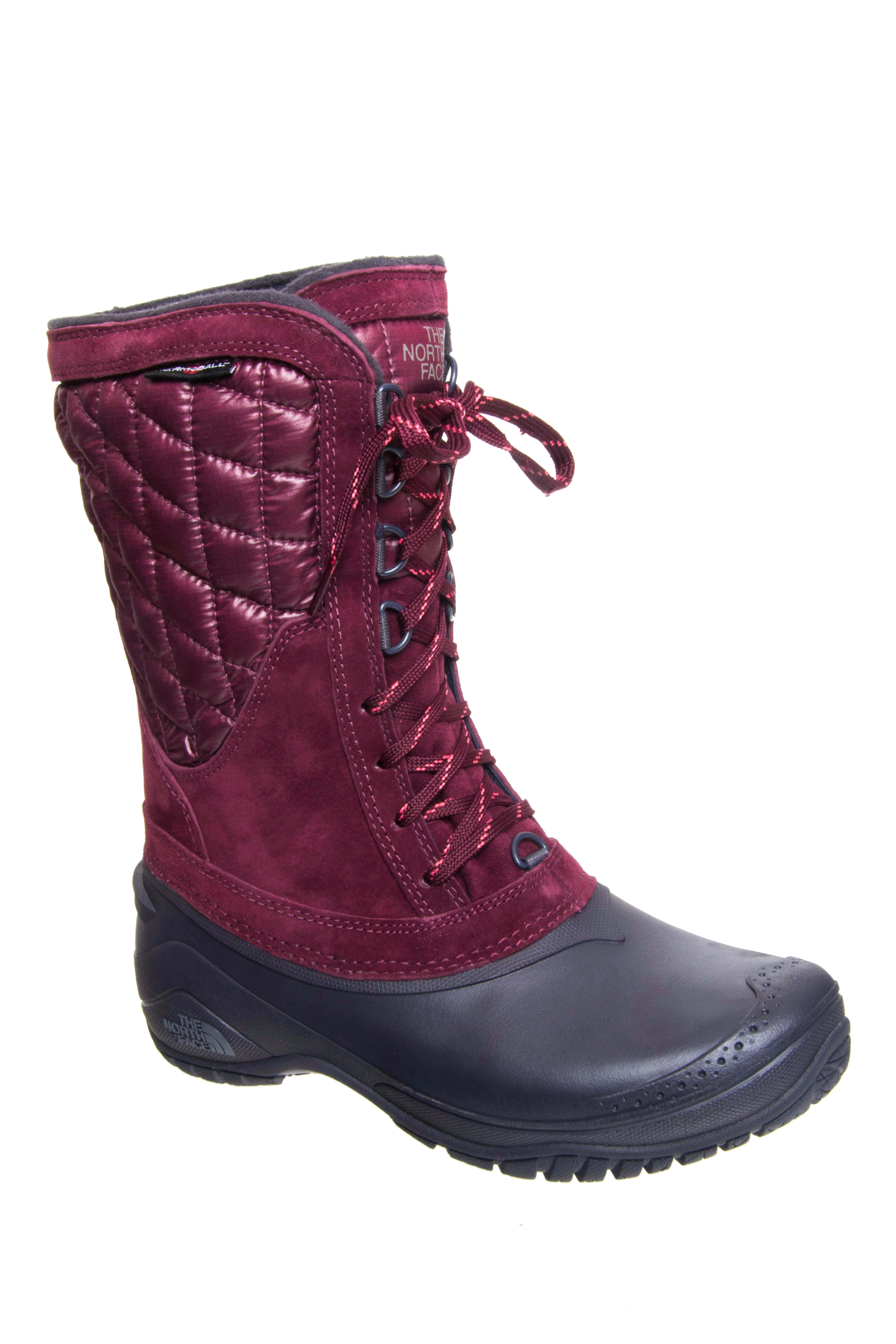 The North Face Thermoball Utility Mid Calf Boots - Deep Garnet
