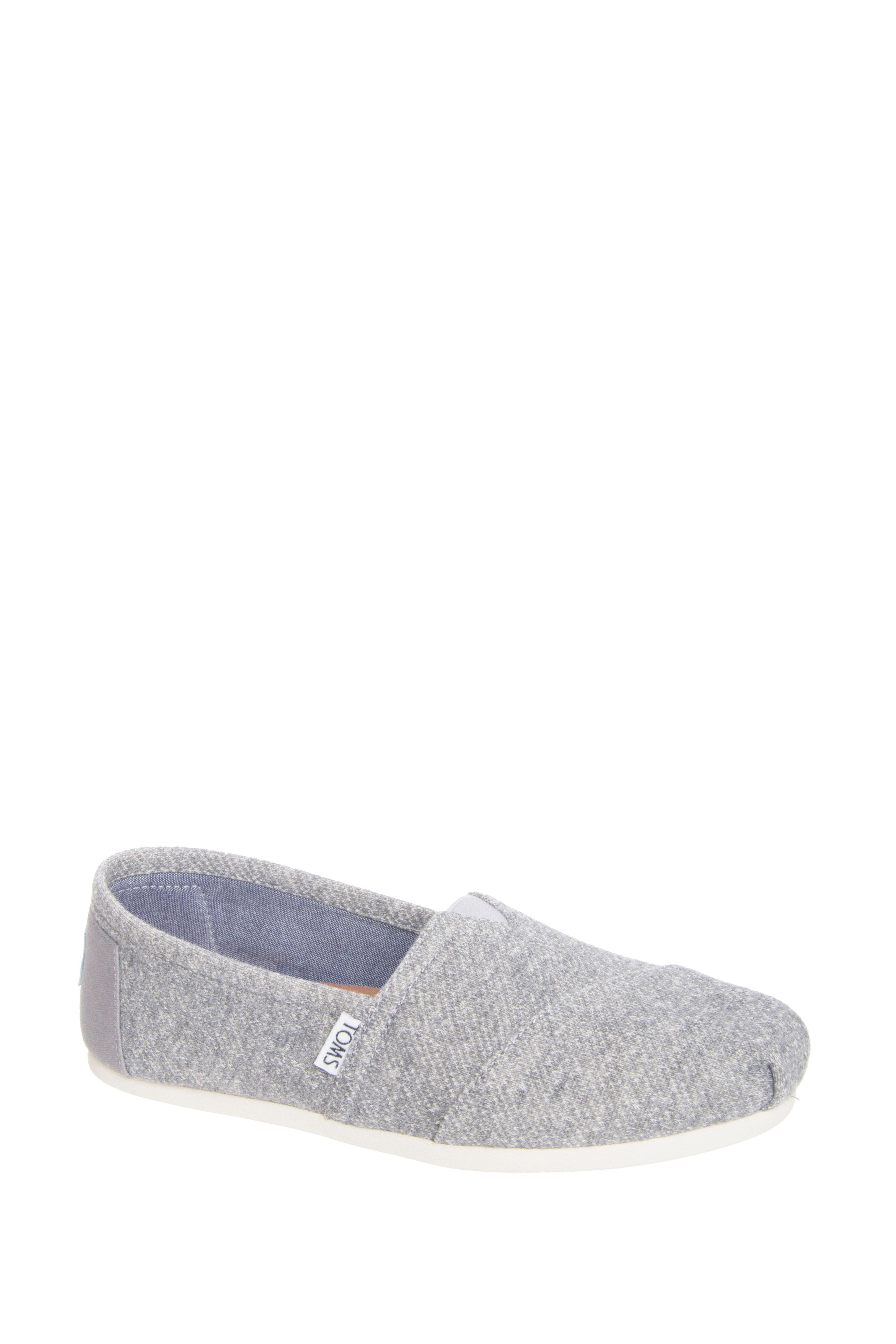 TOMS Classic Alpargata Flats - Grey Marl