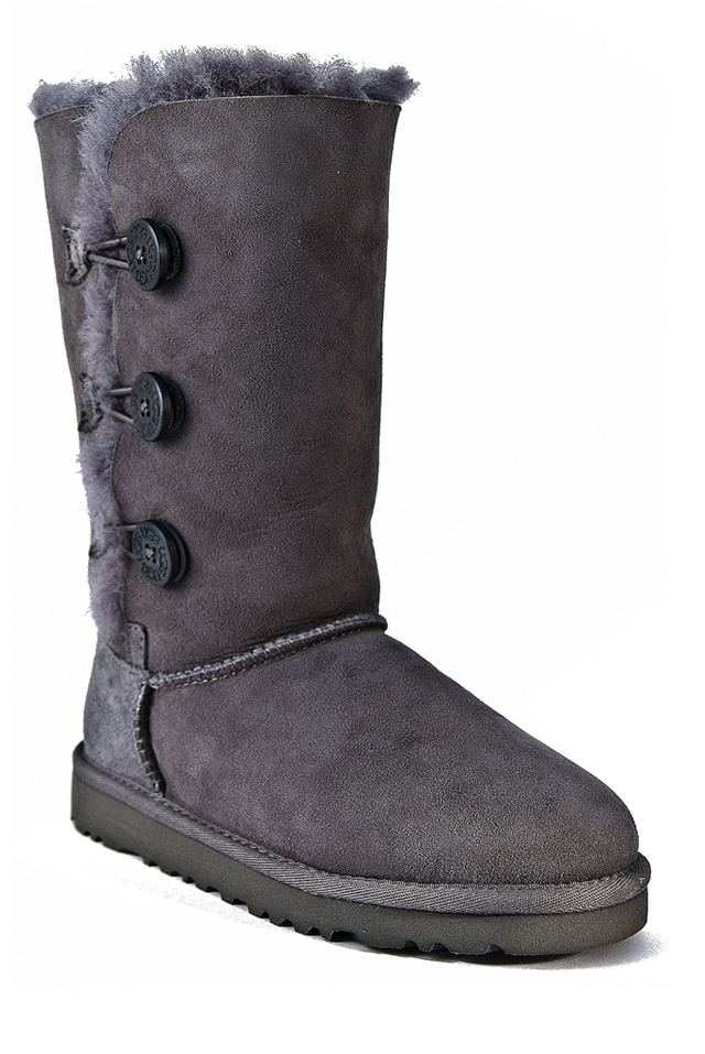 UGG Australia Kid's Bailey Button Triple Boot - Grey