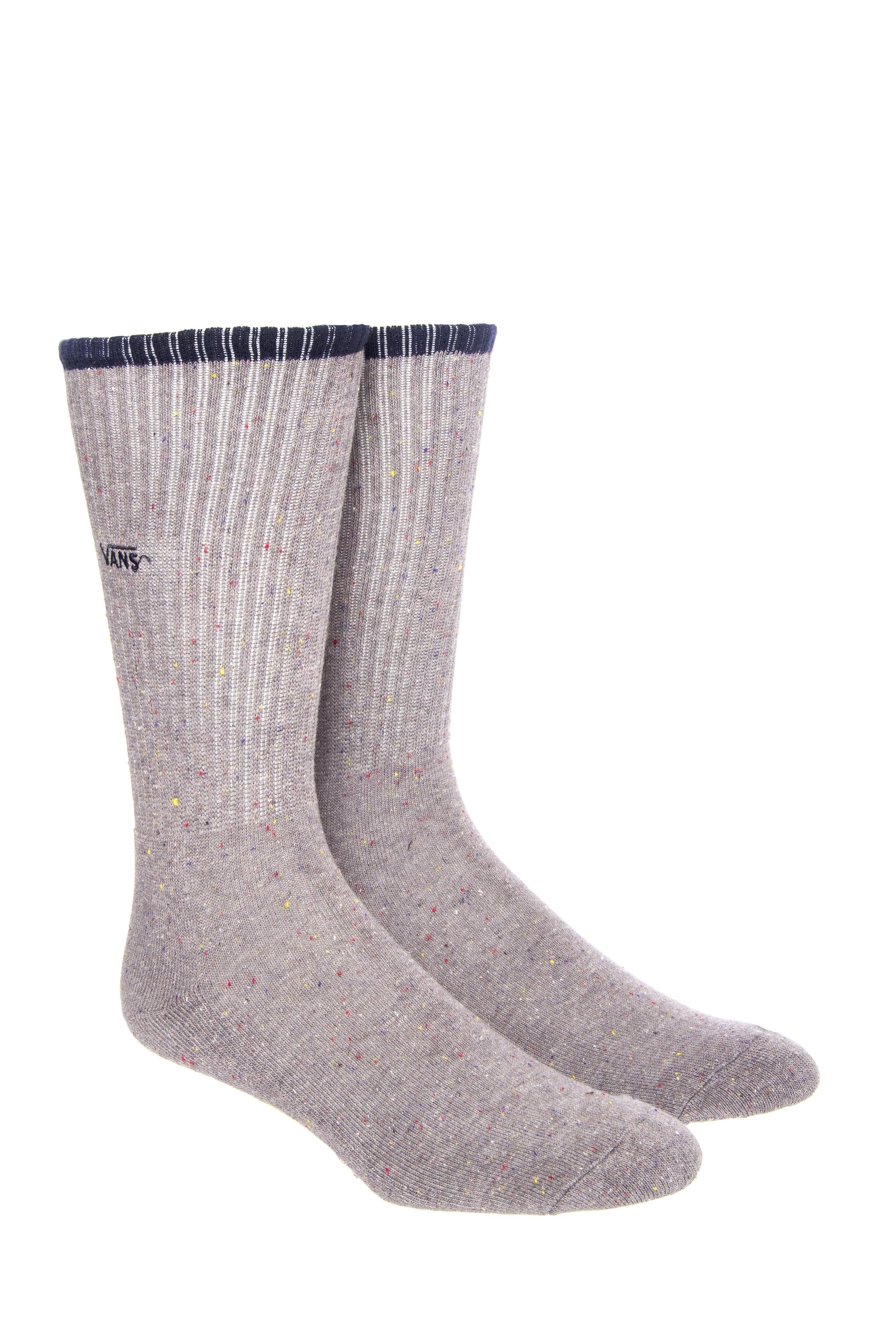 Vans Men's Grey Crew Sock - Grey