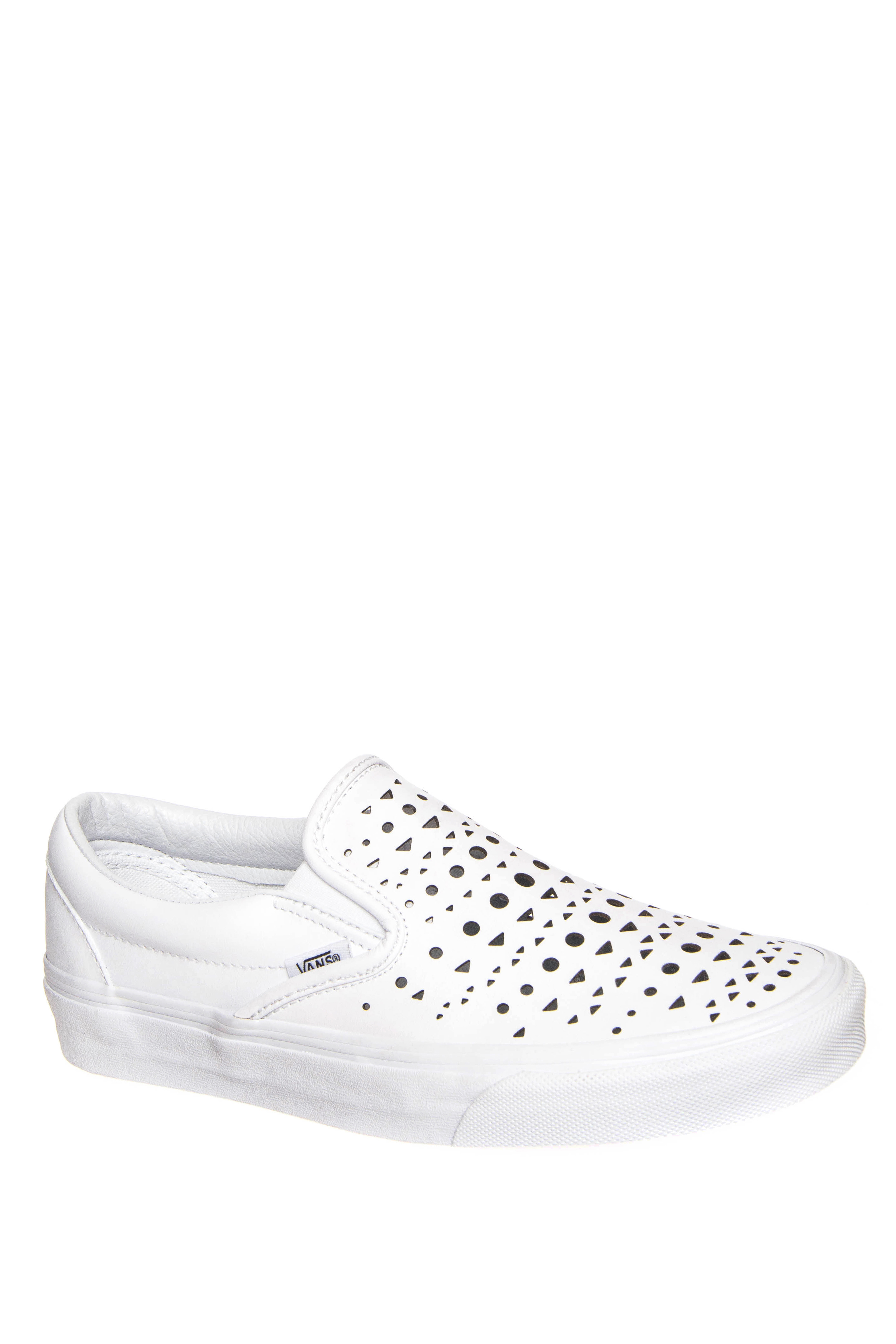 Vans Classic Cut Out Geo Slip-On Sneakers - True White