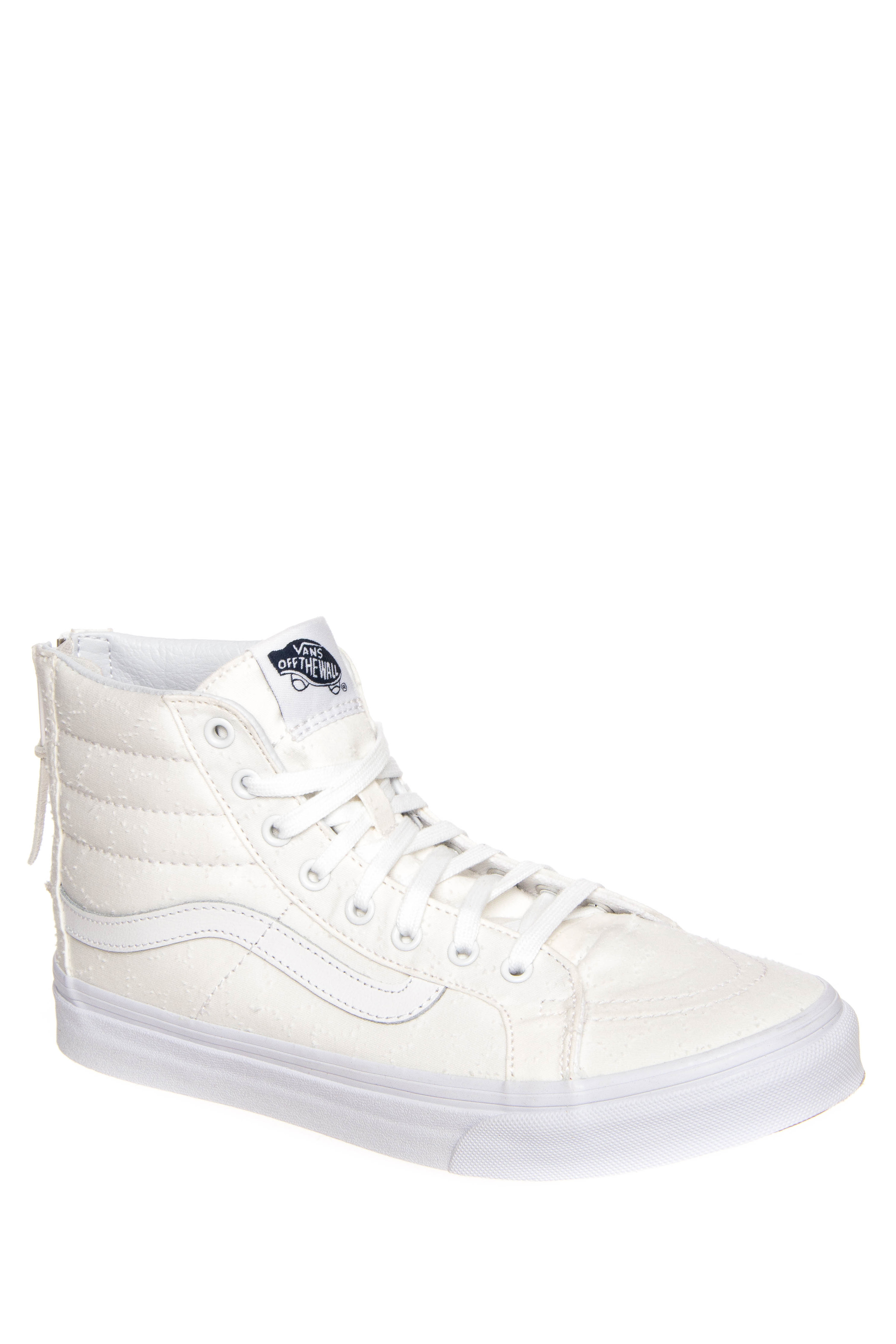 Vans Star Dots Sk8-Hi Slim Zip High Top Sneakers - True White