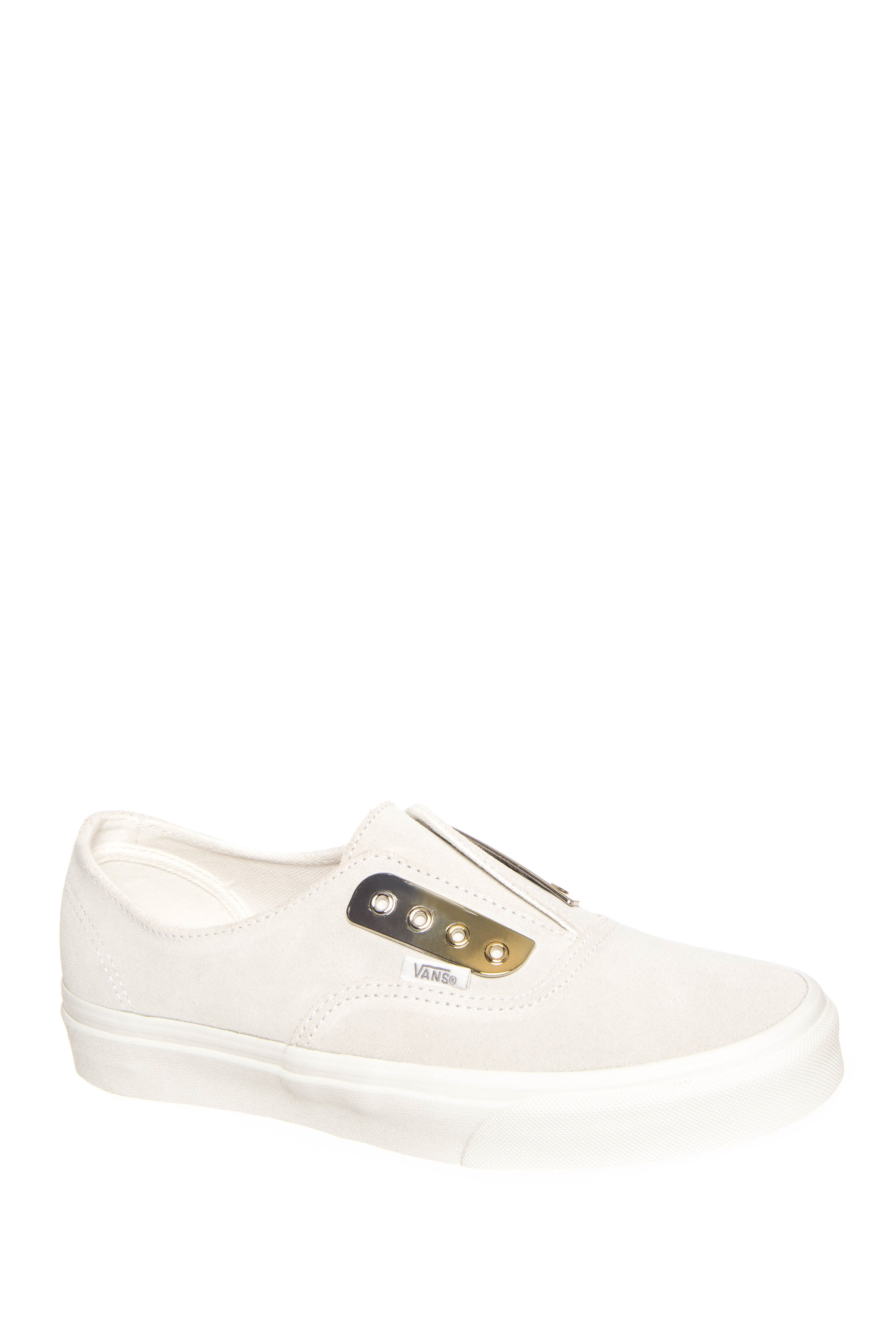 Vans Authentic Metal Eyeplate Gore Slip-On Sneakers - Blanc De Blanc
