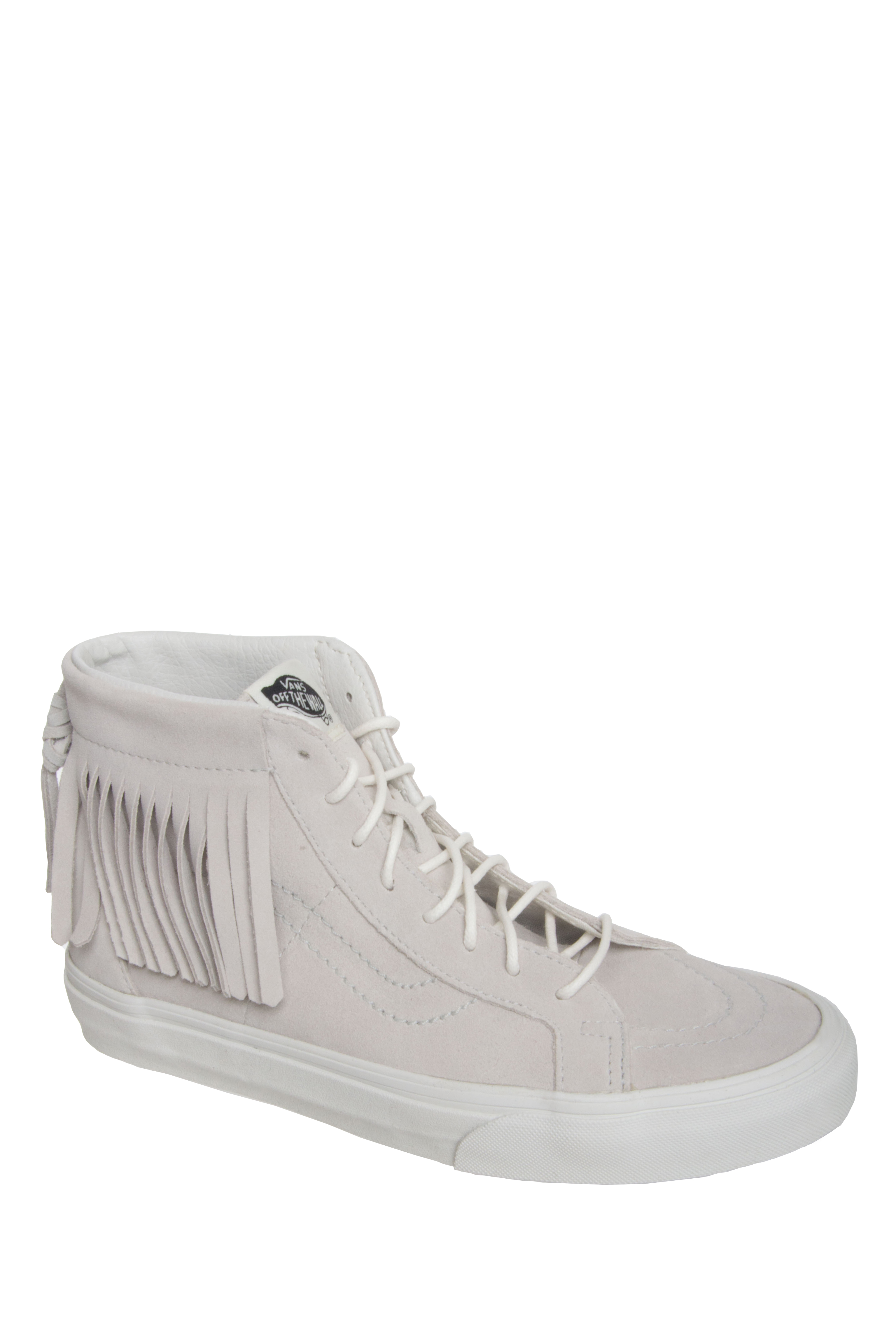 VANS Unisex SK8 Hi Top Moc Suede Sneakers - Winter White