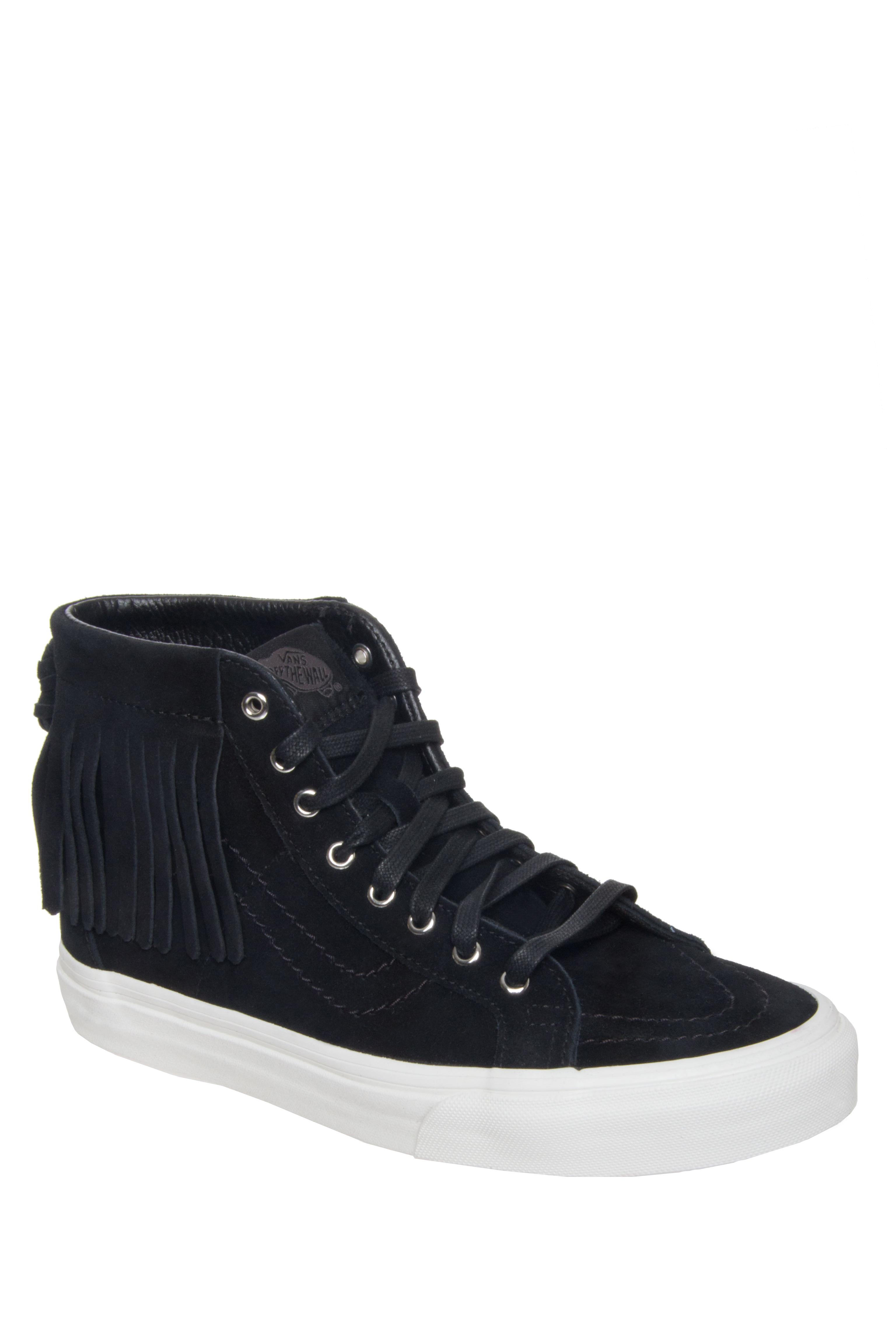 VANS Unisex SK8 Hi Top Moc Suede Sneakers - Black