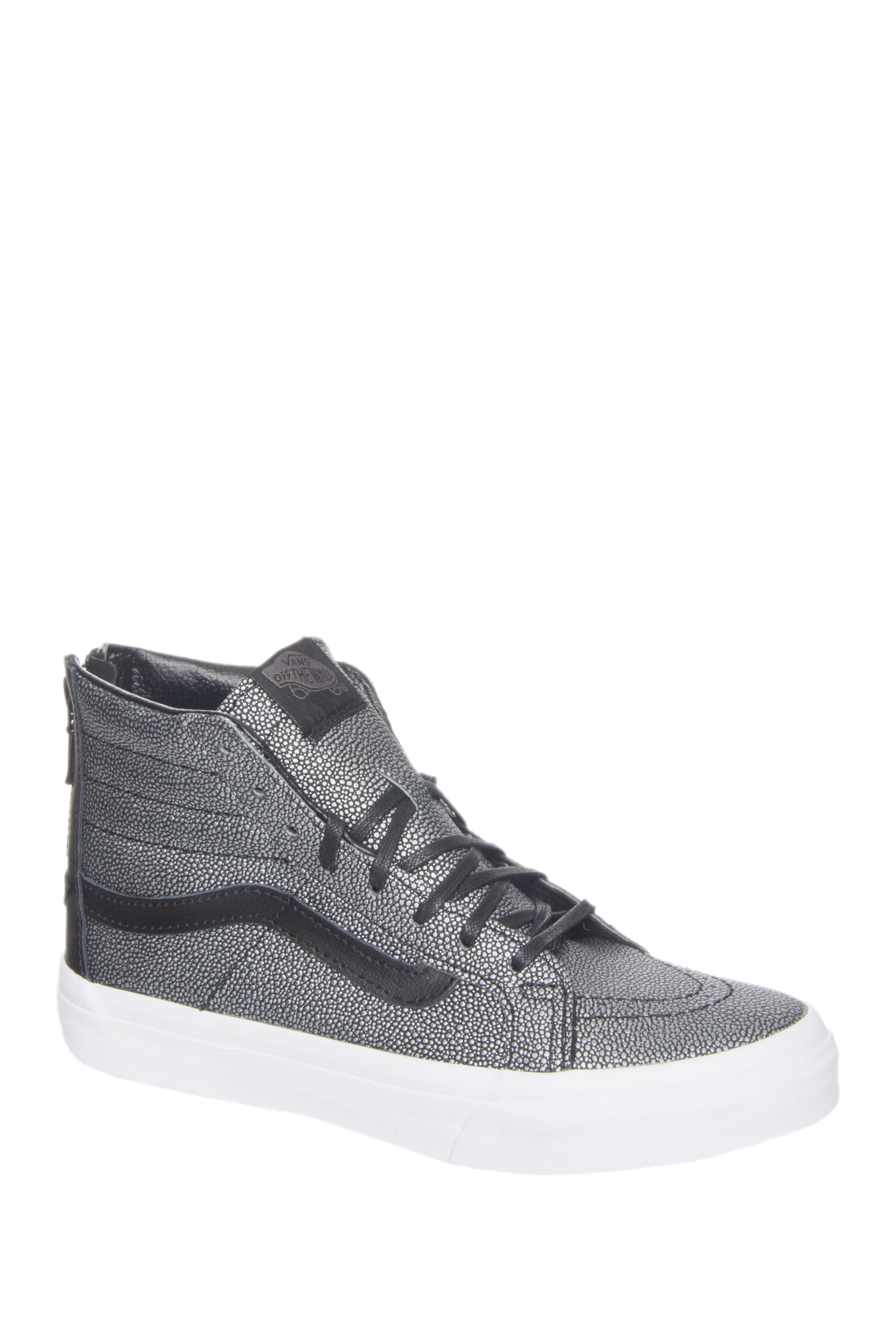 Vans Unisex SK8-Hi-Top Slim Zip Stingray Sneakers - Black