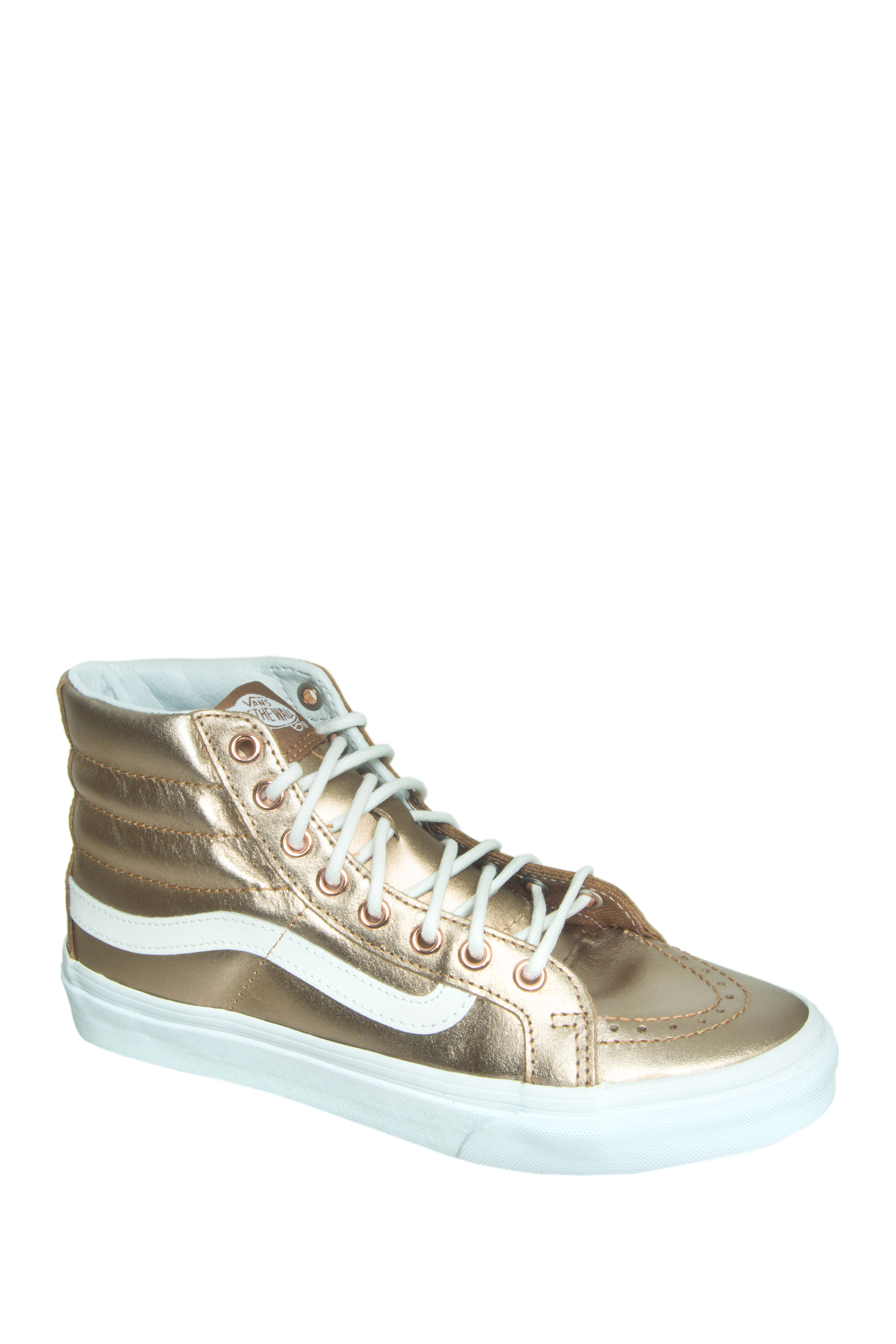 Vans Unisex Sk8 Hi-Top Slim Metallic Sneakers - Rose Gold