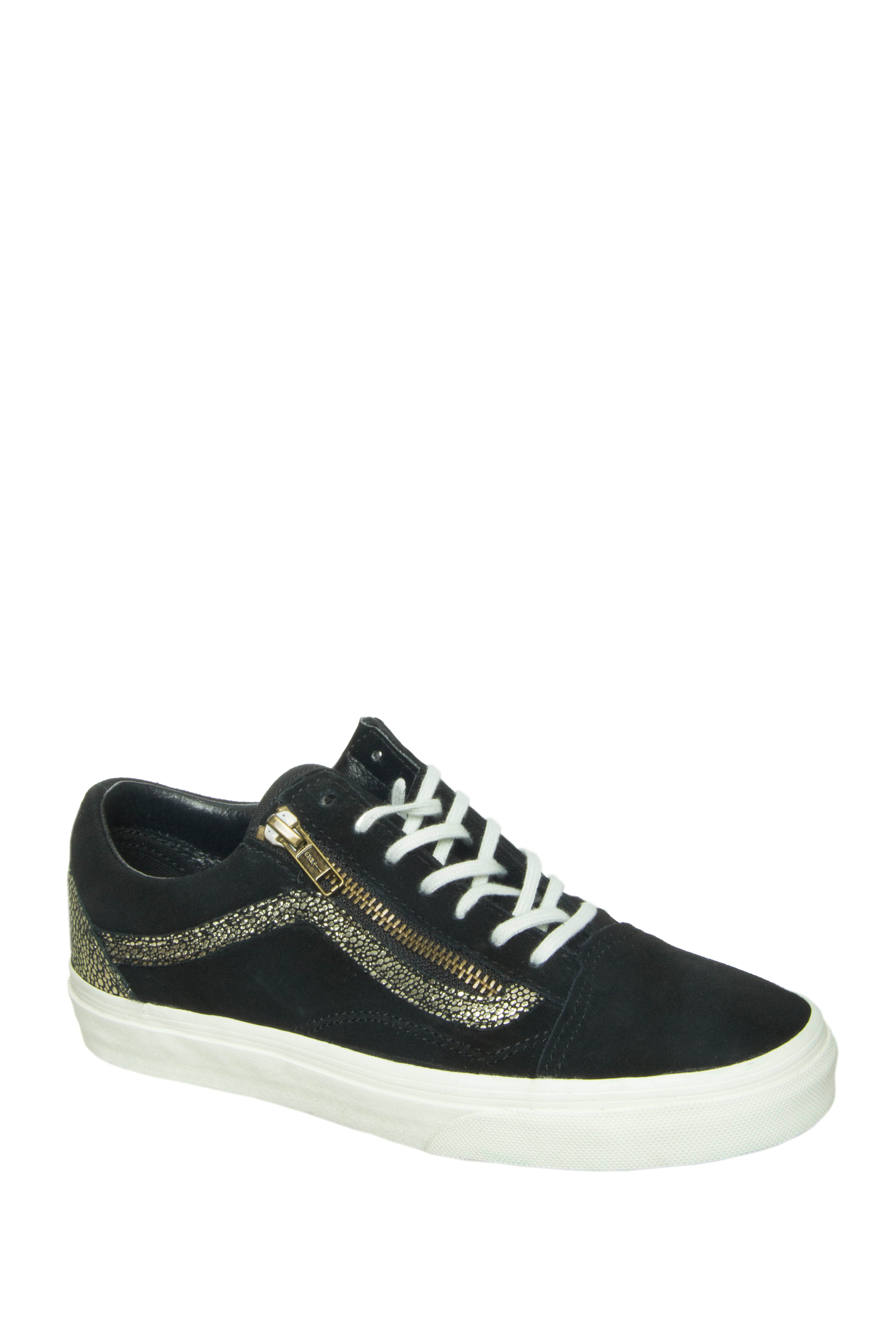 Vans Unisex Old Skool Zip Gold Dots Sneakers - Gold